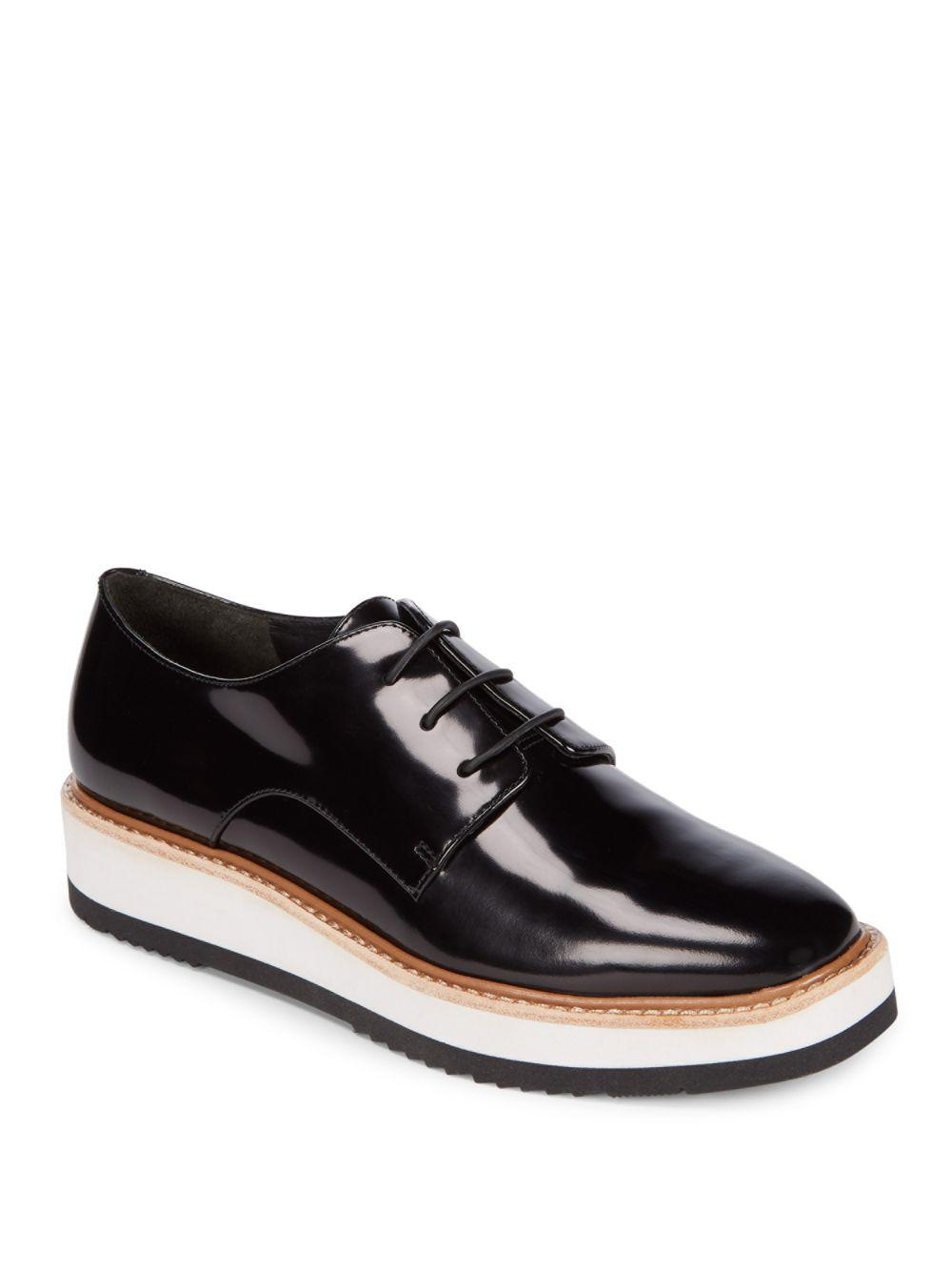 Vince - Black Reed Patent Leather Platform Shoes - Lyst. View fullscreen f98693046