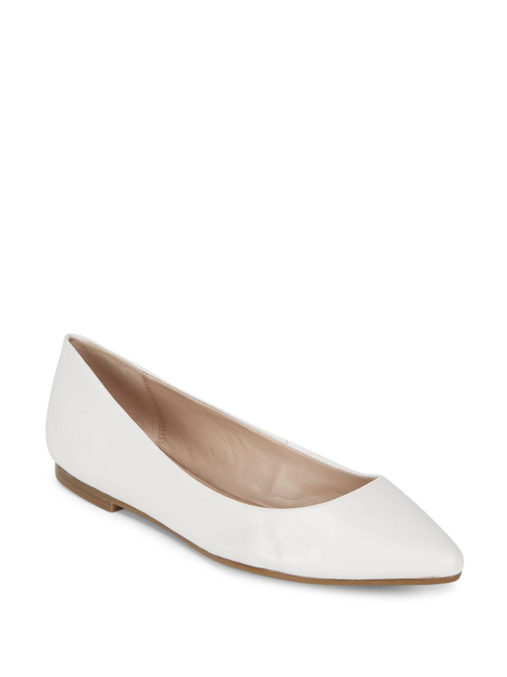 71e751c0aa50bf Lyst - BCBGeneration Millie Leather Flats in White