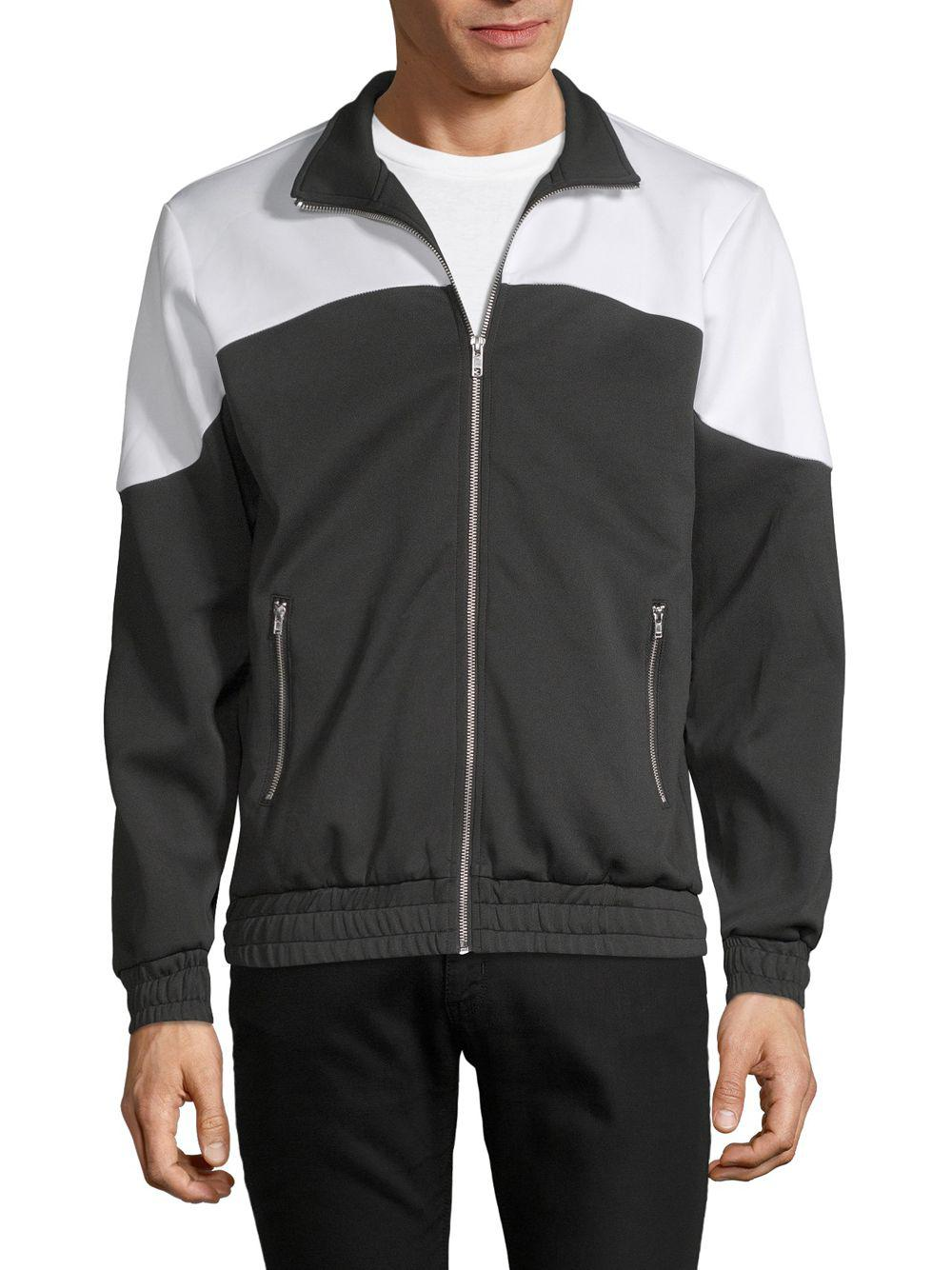0c385efb0c9 Russell Park Colorblock Zip Track Jacket in Black for Men - Lyst