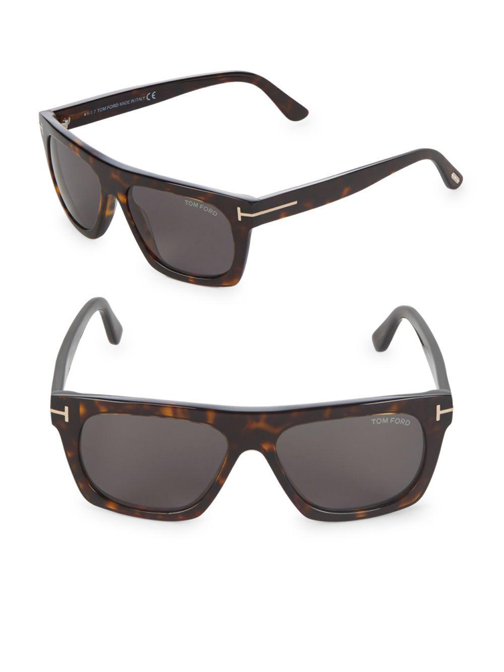 536595192481e Tom Ford - Brown 55mm Square Sunglasses - Lyst. View fullscreen