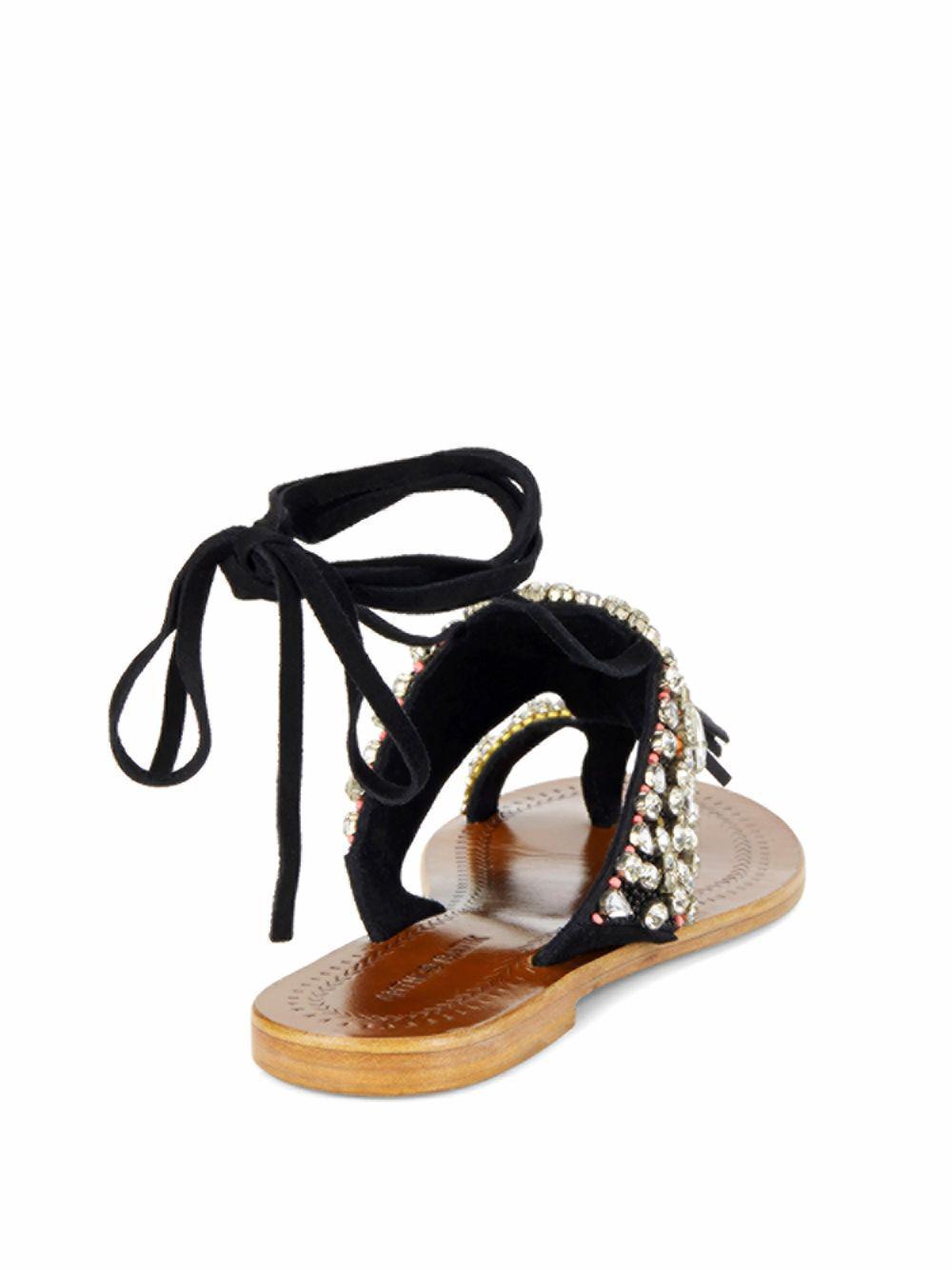 amazon countdown package sale online Antik Batik Leather Embellished Sandals oyYF9g