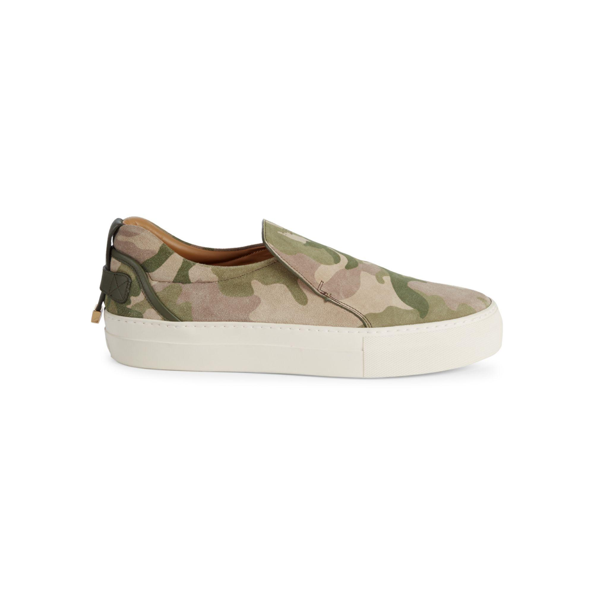 Buscemi Camouflage Suede Slip-on