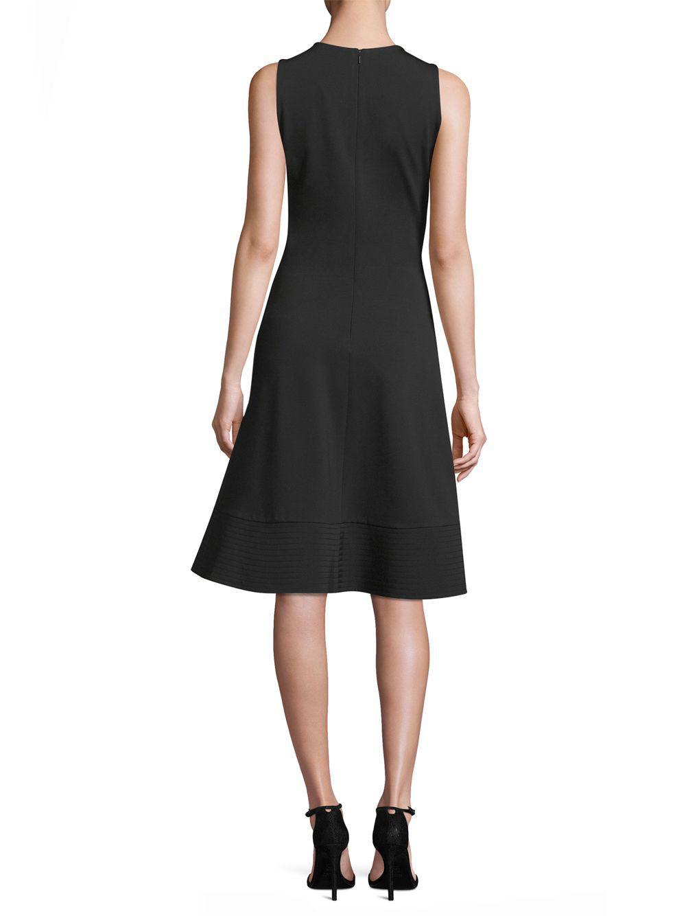 1b8d21cc0c865 Donna Karan - Black Sleeveless Fit- -flare Dress - Lyst. View fullscreen