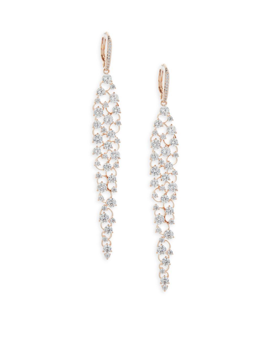 Lyst adriana orsini chandelier drop earrings in metallic adriana orsini womens metallic chandelier drop earrings arubaitofo Images