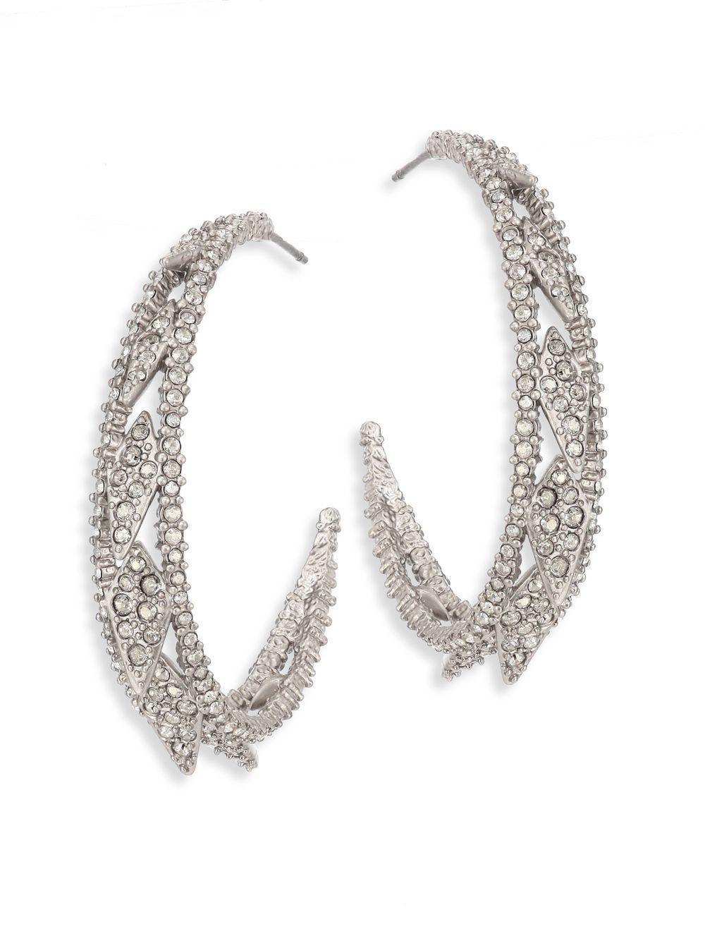 Alexis Bittar Crystal Lattice Hoop Earrings jezV8