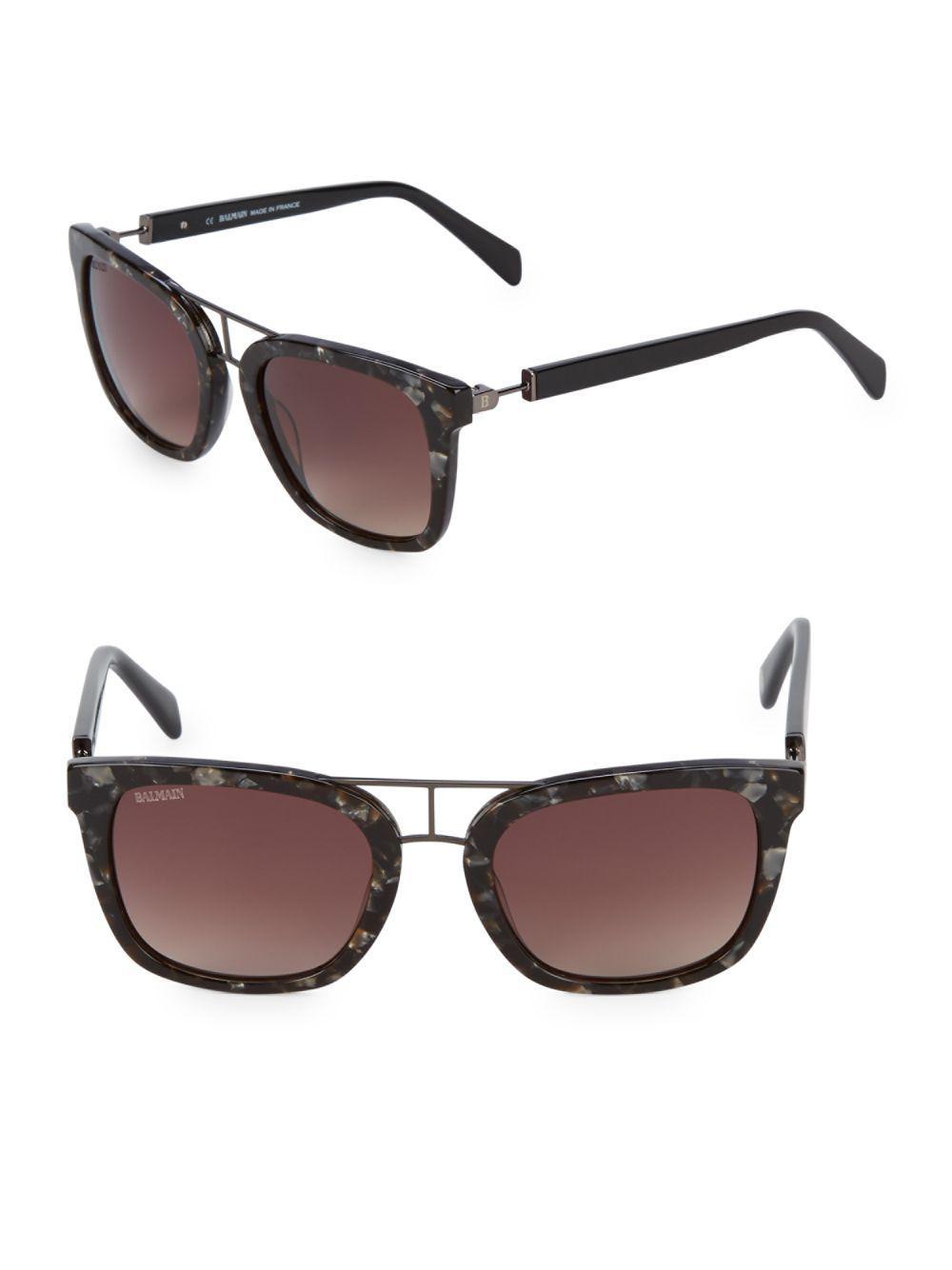 4e04da51b5803 Lyst - Balmain 52mm Cateye Sunglasses in Black
