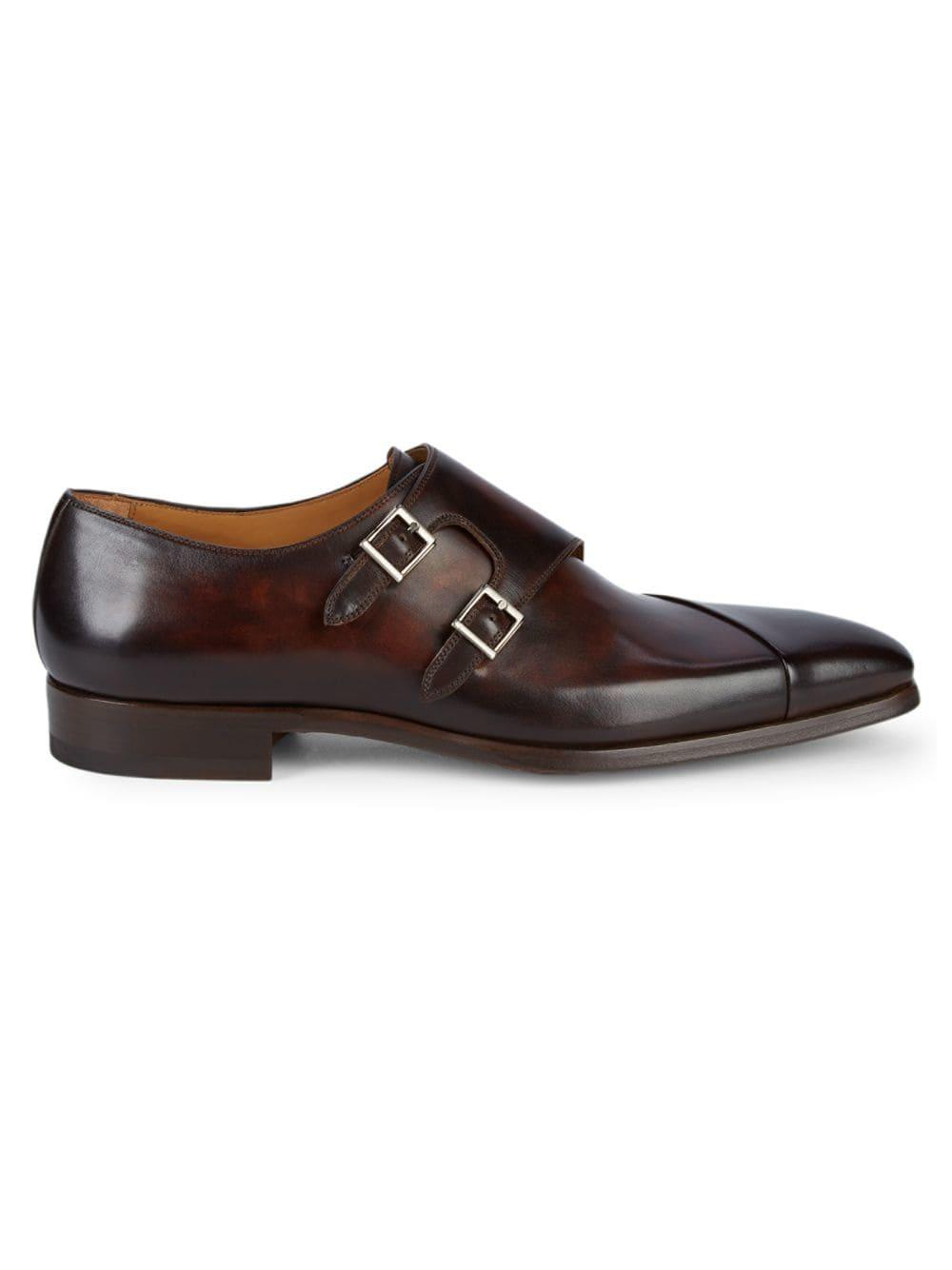 4a142d6f42d Lyst - Magnanni Hafiz Double Monk-strap Leather Dress Shoes in Brown ...