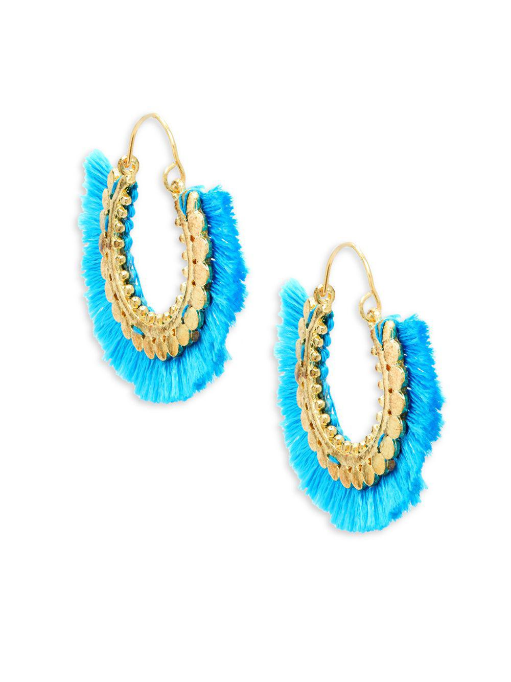Panacea Filigree Fringe Hoop Earrings r3EQF2Qj