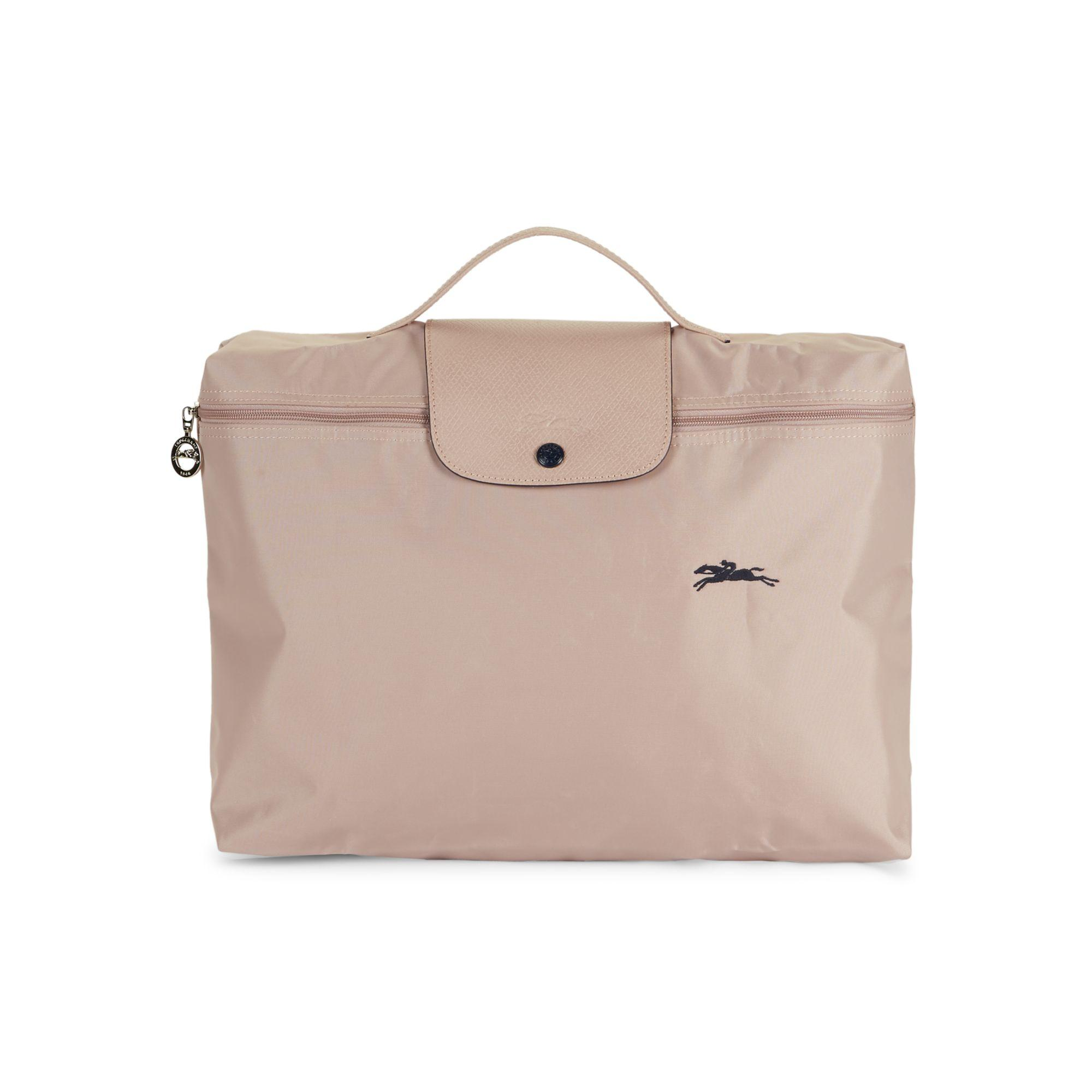 Le Pliage Club Leather-trim Document Holder