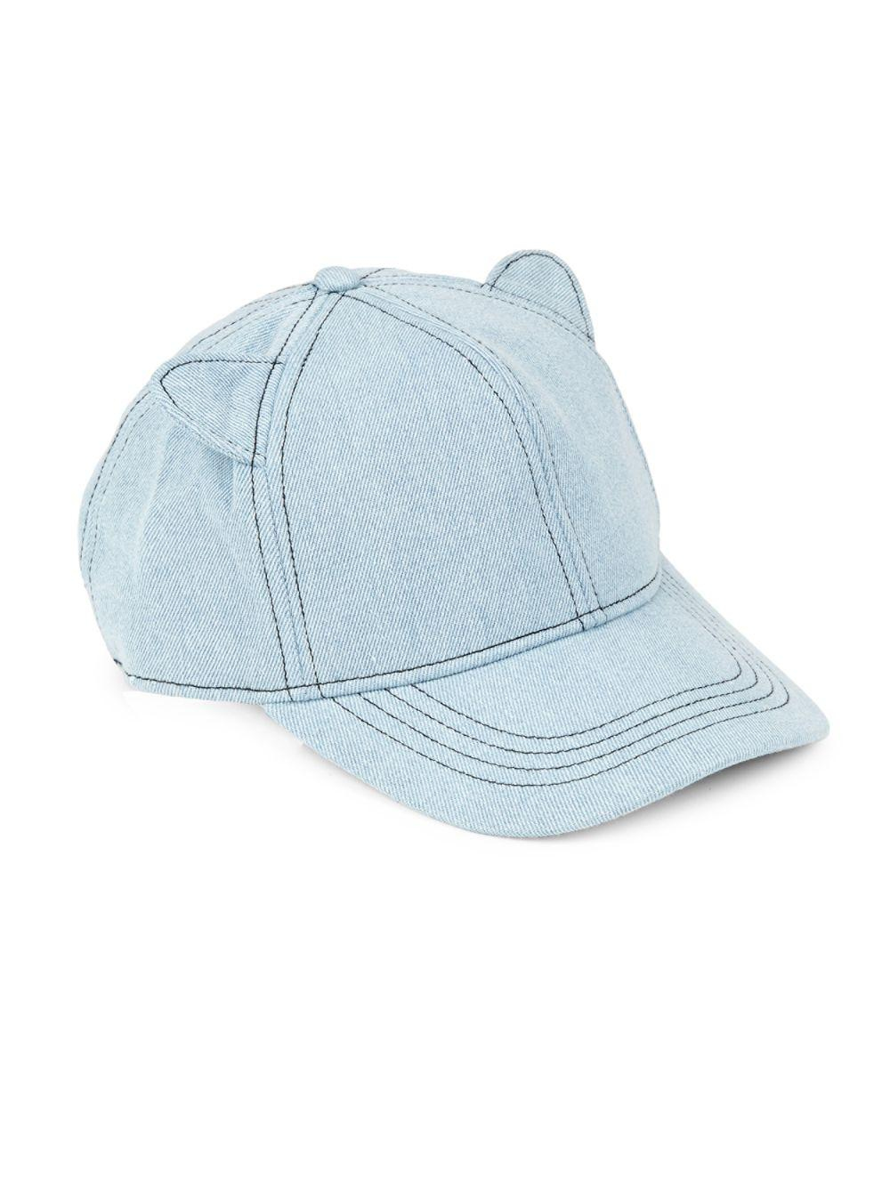 Lyst - Karl Lagerfeld Cat Ears Baseball Hat in Blue for Men 4836b716a68