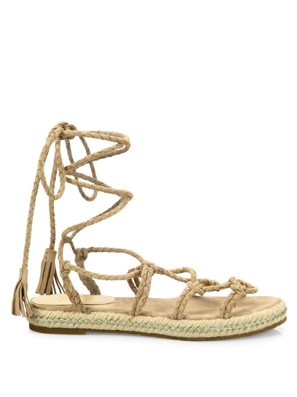 Joie - Multicolor Caesar Suede Lace-up Espadrille Sandals - Lyst. View  Fullscreen
