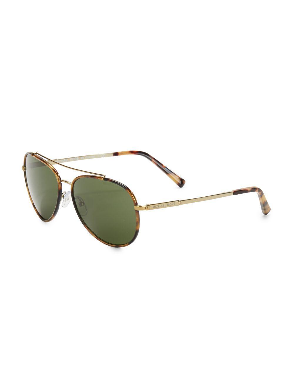 d5760b1b8858 Michael Kors 59mm Aviator Sunglasses for Men - Lyst