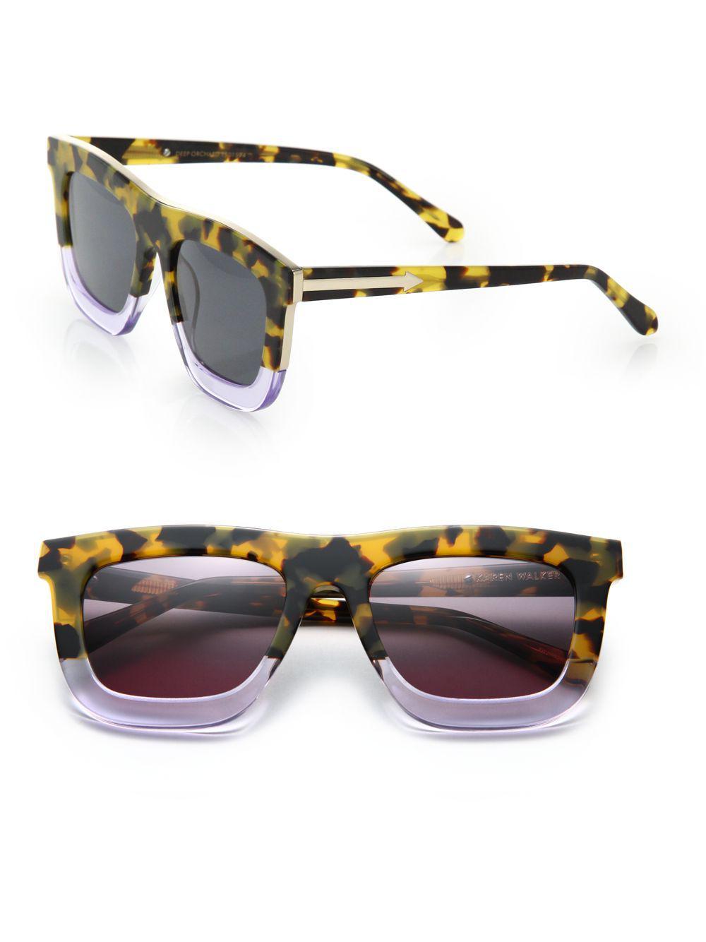 f1981504d2d Lyst - Karen Walker Deep Orchard 55mm Square Sunglasses