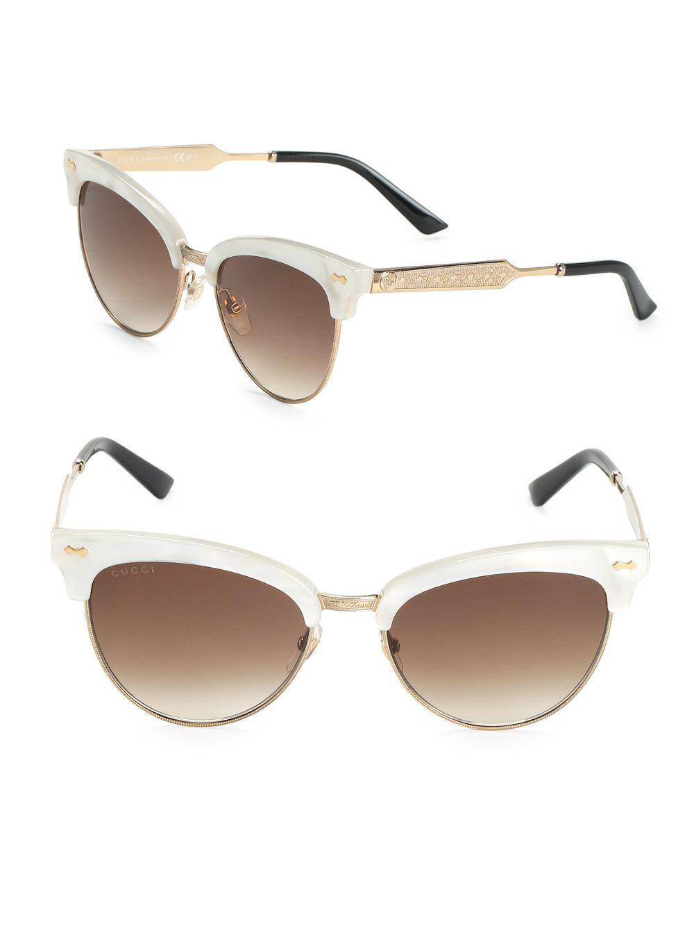 1f624fce70f Lyst - Gucci 55mm Mother-of-pearl Cat s Eye Sunglasses