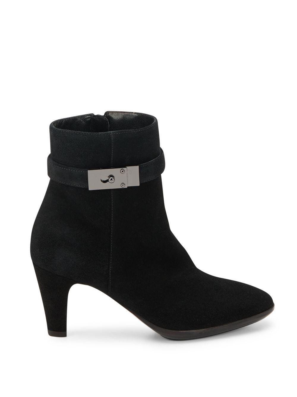Aquatalia Dana Suede Ankle Boots in Black