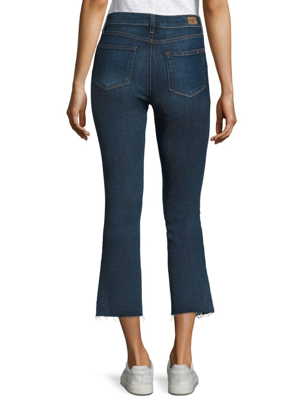 PAIGE Denim Colette Cropped Flared Jeans in Blue