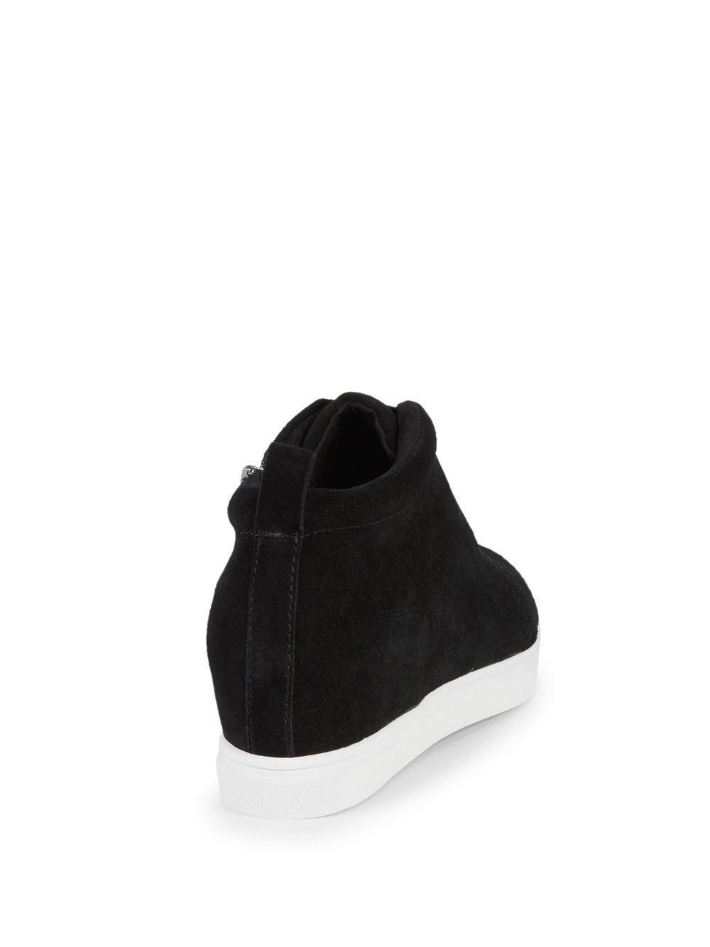 9b6c2947597 Blondo Garrick Suede Wedge Sneakers in Black - Lyst
