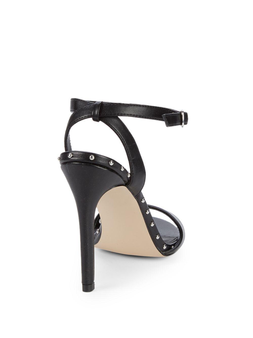 19a5a39d6db Lyst - Steve Madden Raea Studded Stiletto Sandals in Black