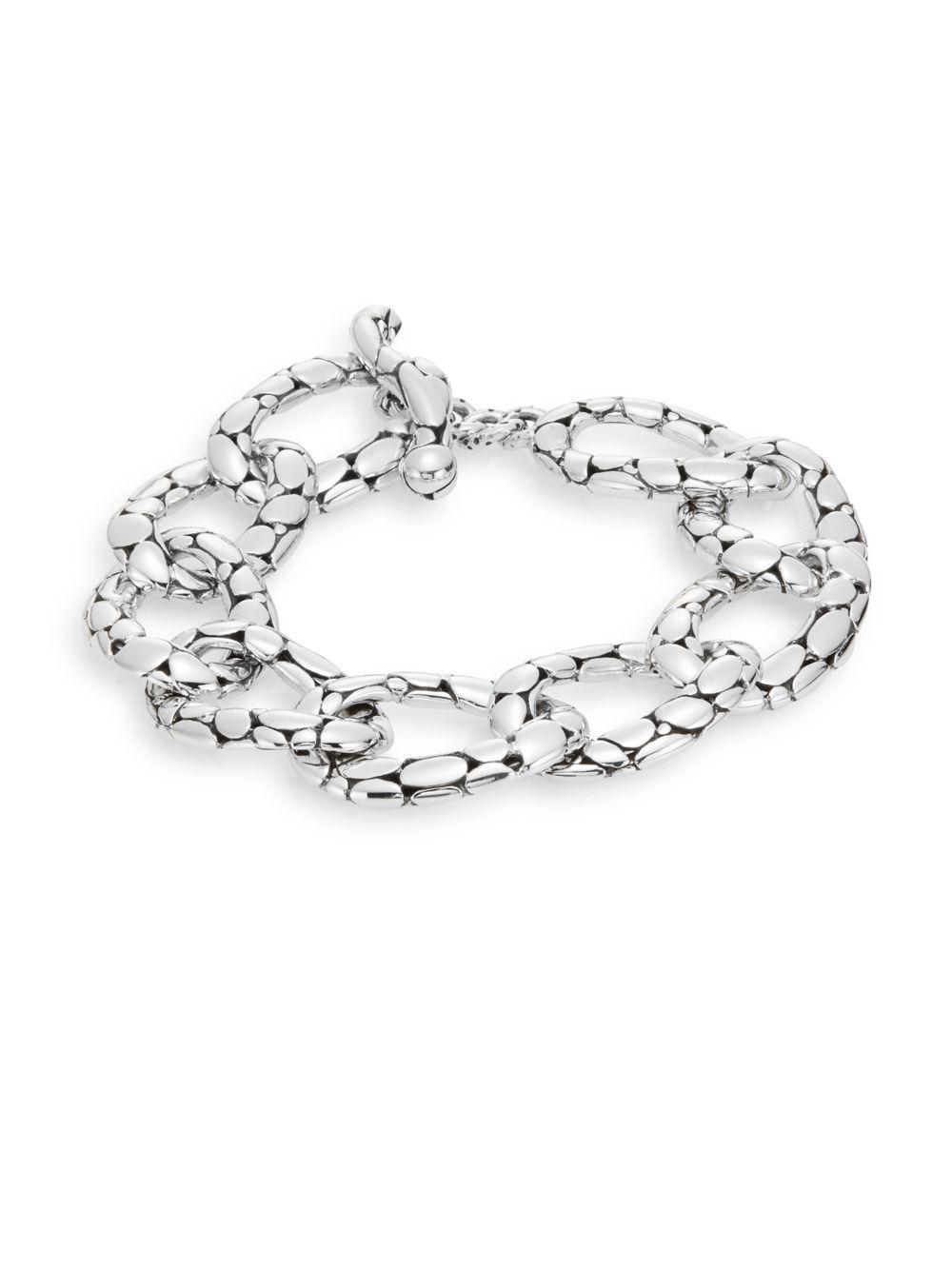 9f6f93cb7739 Lyst - John Hardy Kali Sterling Silver Flat Link Bracelet in Metallic