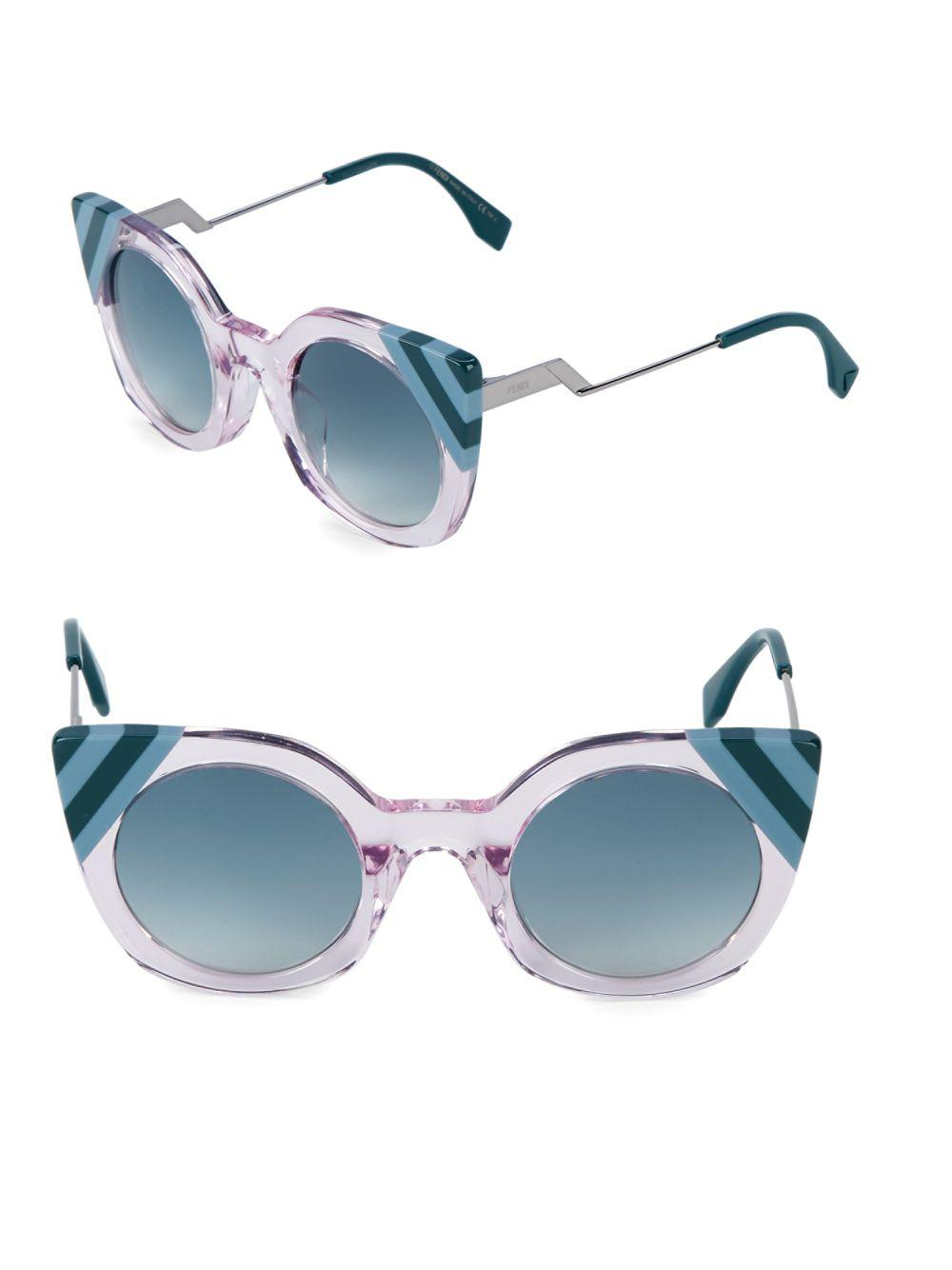 6b89635fa73e Fendi - Blue 47mm Butterfly Sunglasses - Lyst. View fullscreen