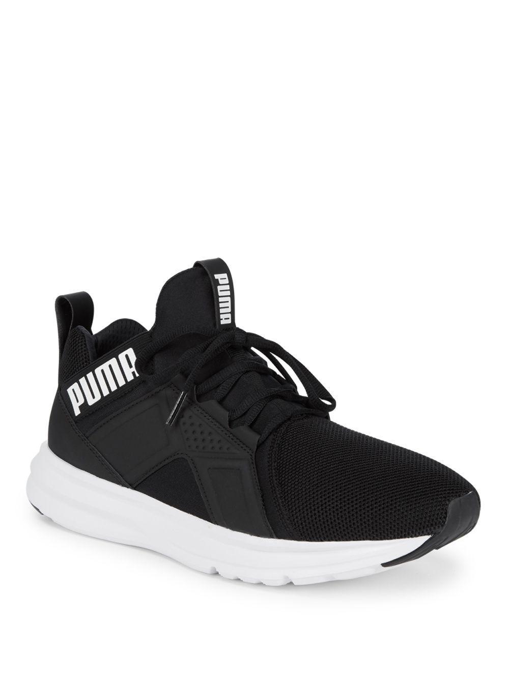 b3ad07ad143e9a PUMA - Black Mesh Lace-up Sneakers for Men - Lyst. View fullscreen