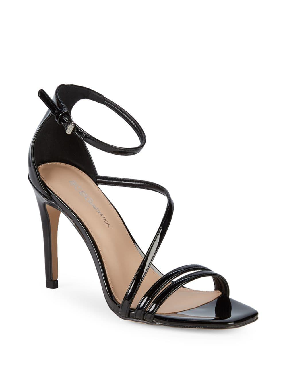 1d1fa513628 Lyst - BCBGeneration Isabel Patent Ankle-strap Stiletto Sandals in Black