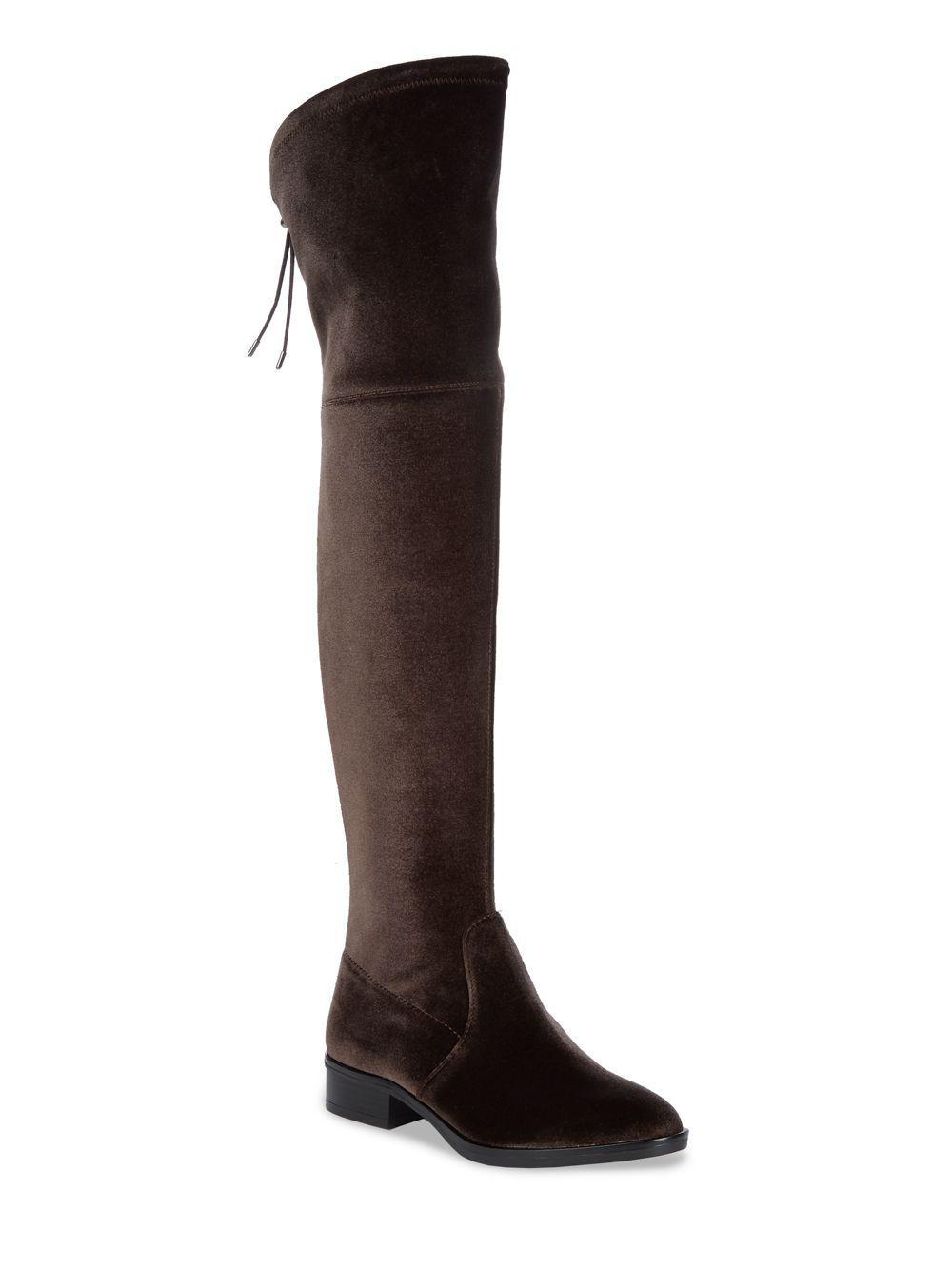 11ffaf3deb6bb8 Sam Edelman Long Velvet Adjustable Boots in Gray - Save 28% - Lyst