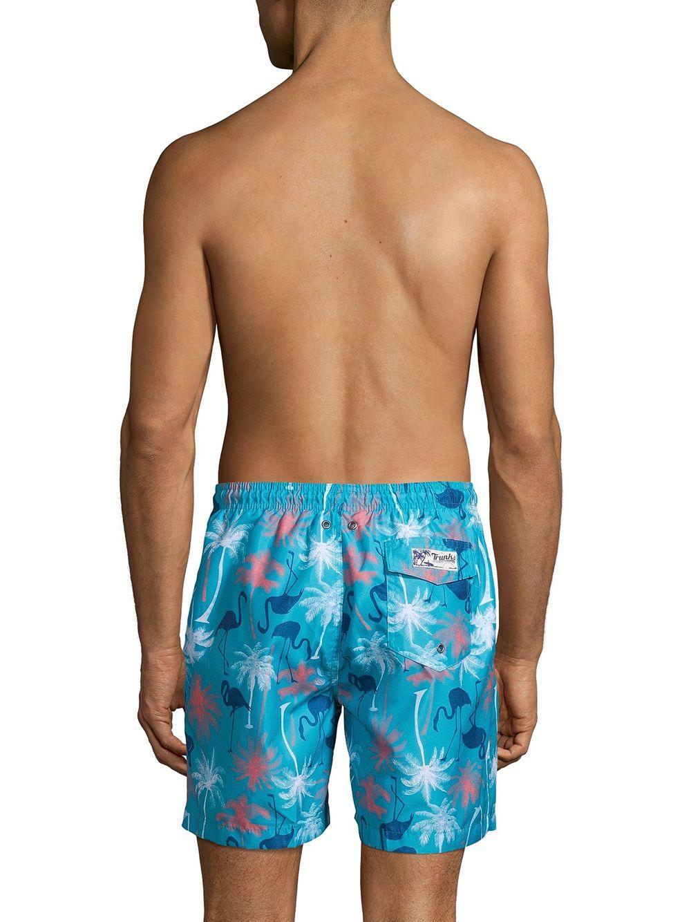 061c31cbe2 Onia - Blue Printed Swim Shorts for Men - Lyst. View fullscreen