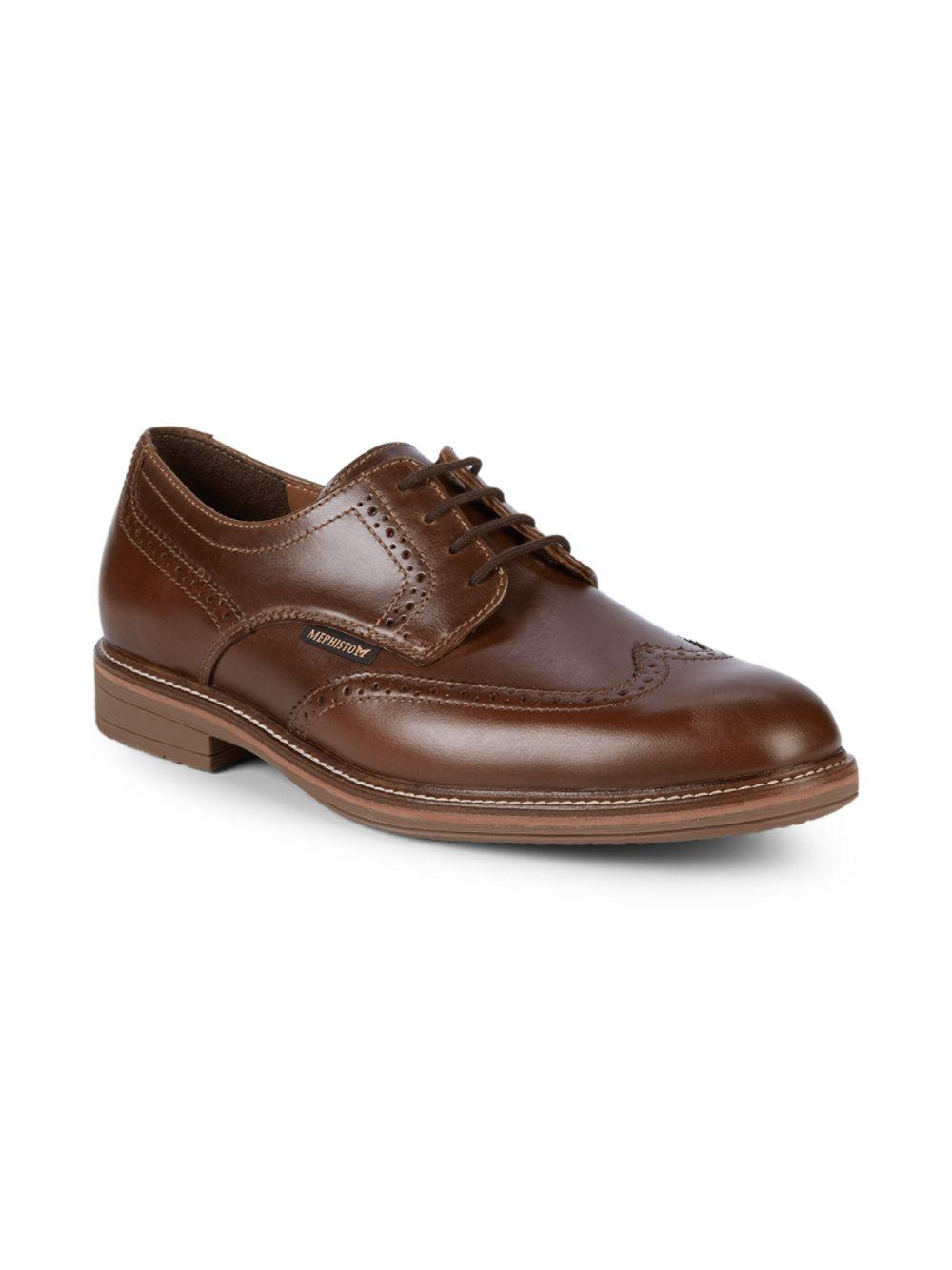 f14ea98fc1f Mephisto Waldo Leather Brogues in Brown for Men - Lyst