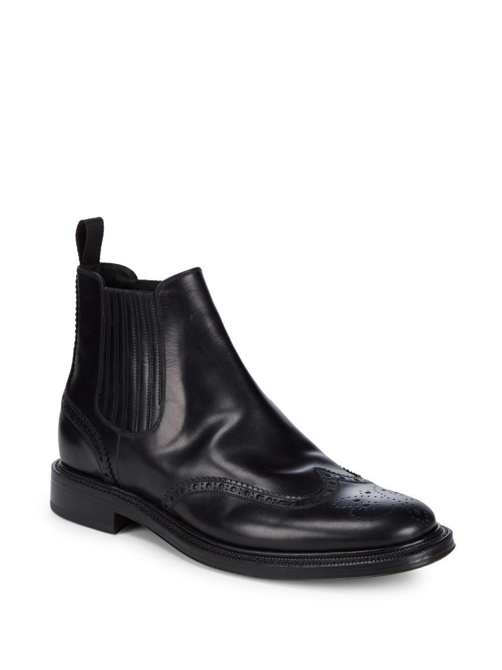 Buy Cheap Big Discount Shop For Chelsea boots 11033 leather black goodyear Santoni odiCEG