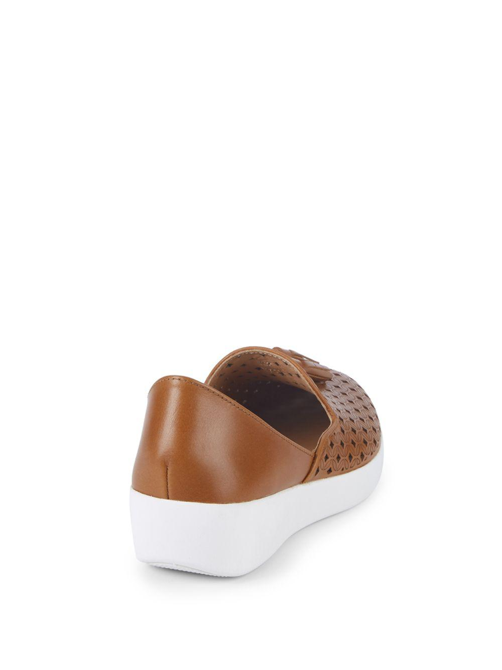 f52b8c35e271 Fitflop Superskate D orsay Leather Loafers in Brown - Lyst
