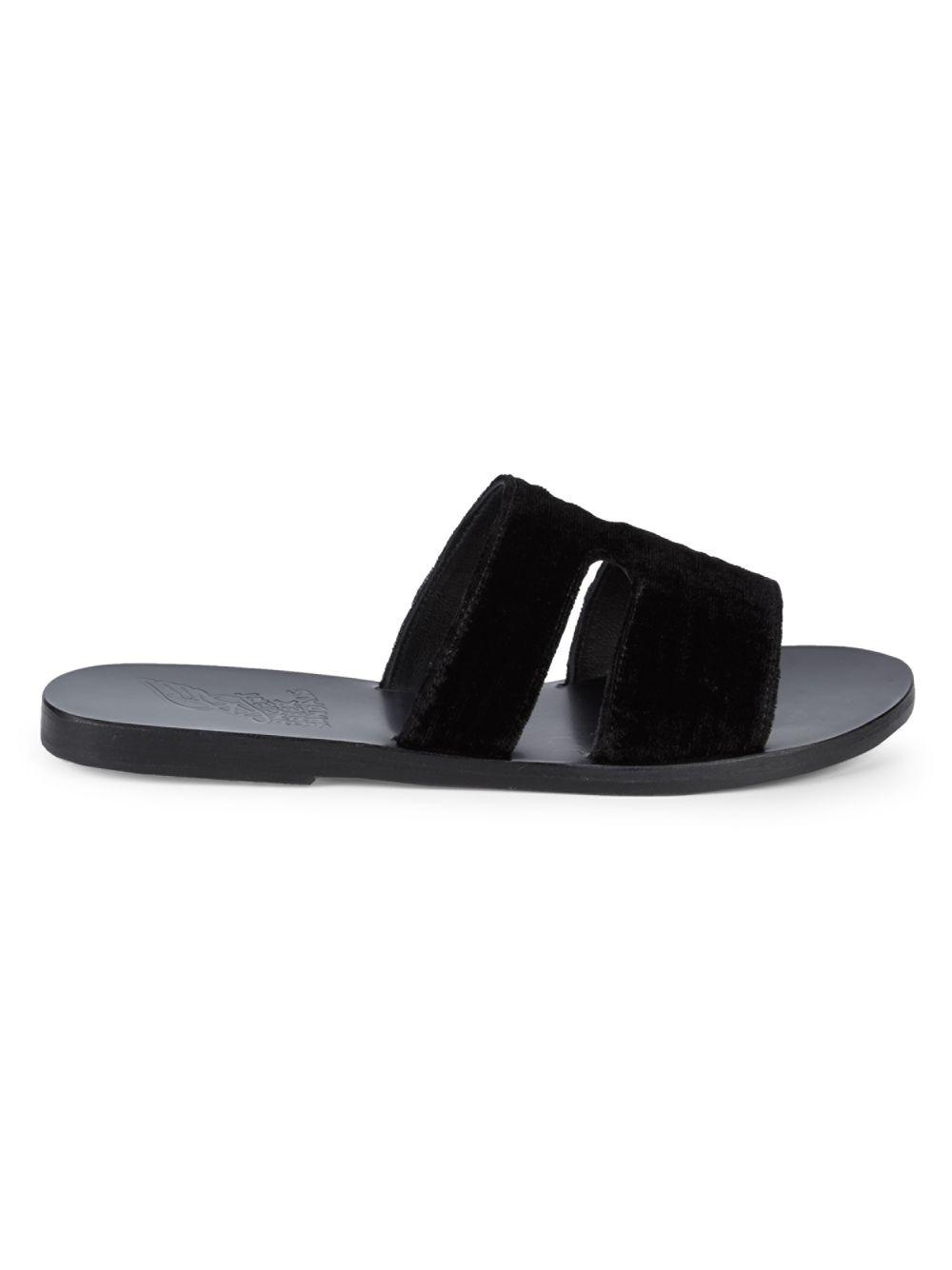 Ancient Greek Sandals Apteros Leather Sandals In Black Lyst