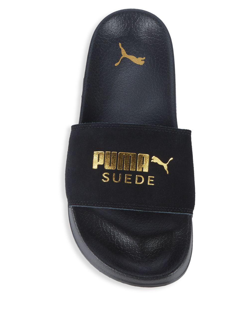 PUMA Mens Leadcat Suede Slide Sandals in Blue for Men - Lyst