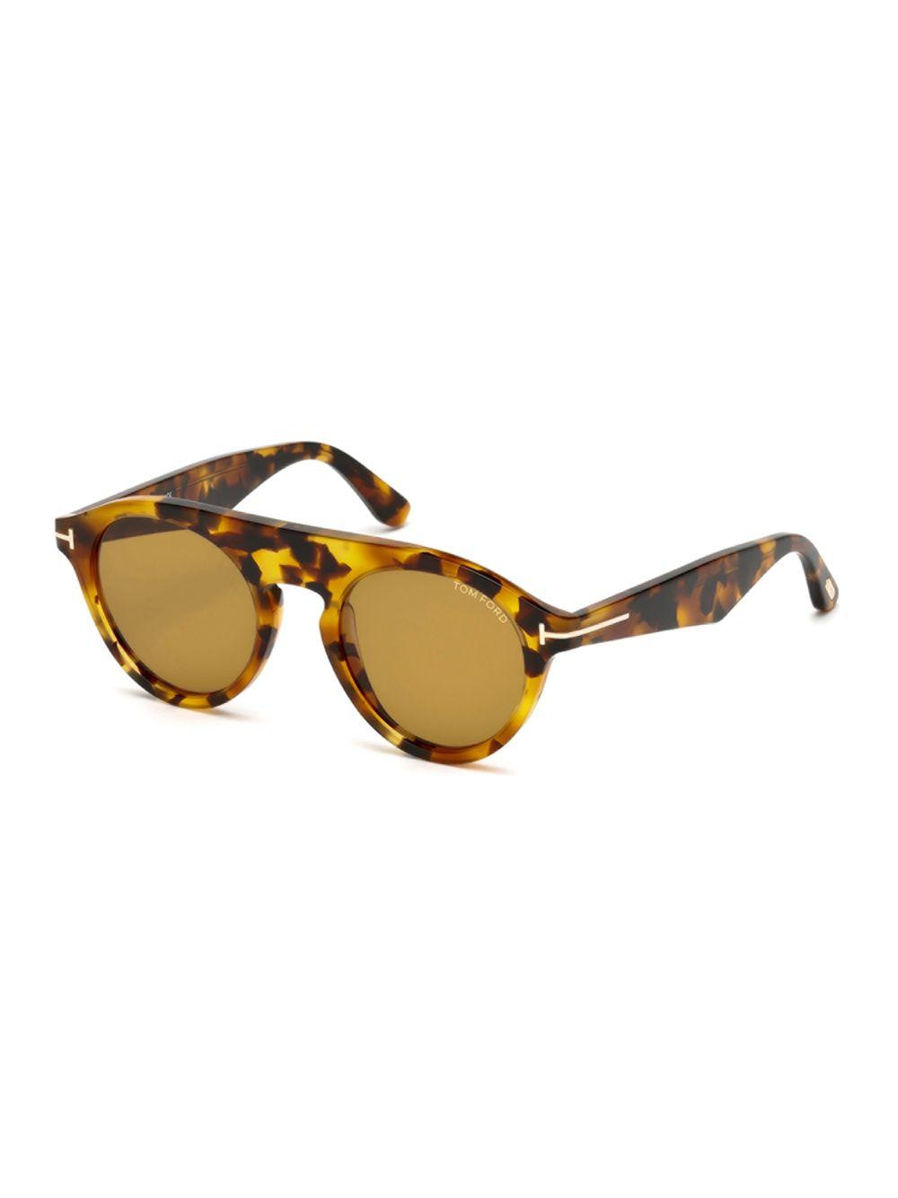 3a796ab88132 Lyst - Tom Ford Christopher Round Sunglasses in Brown
