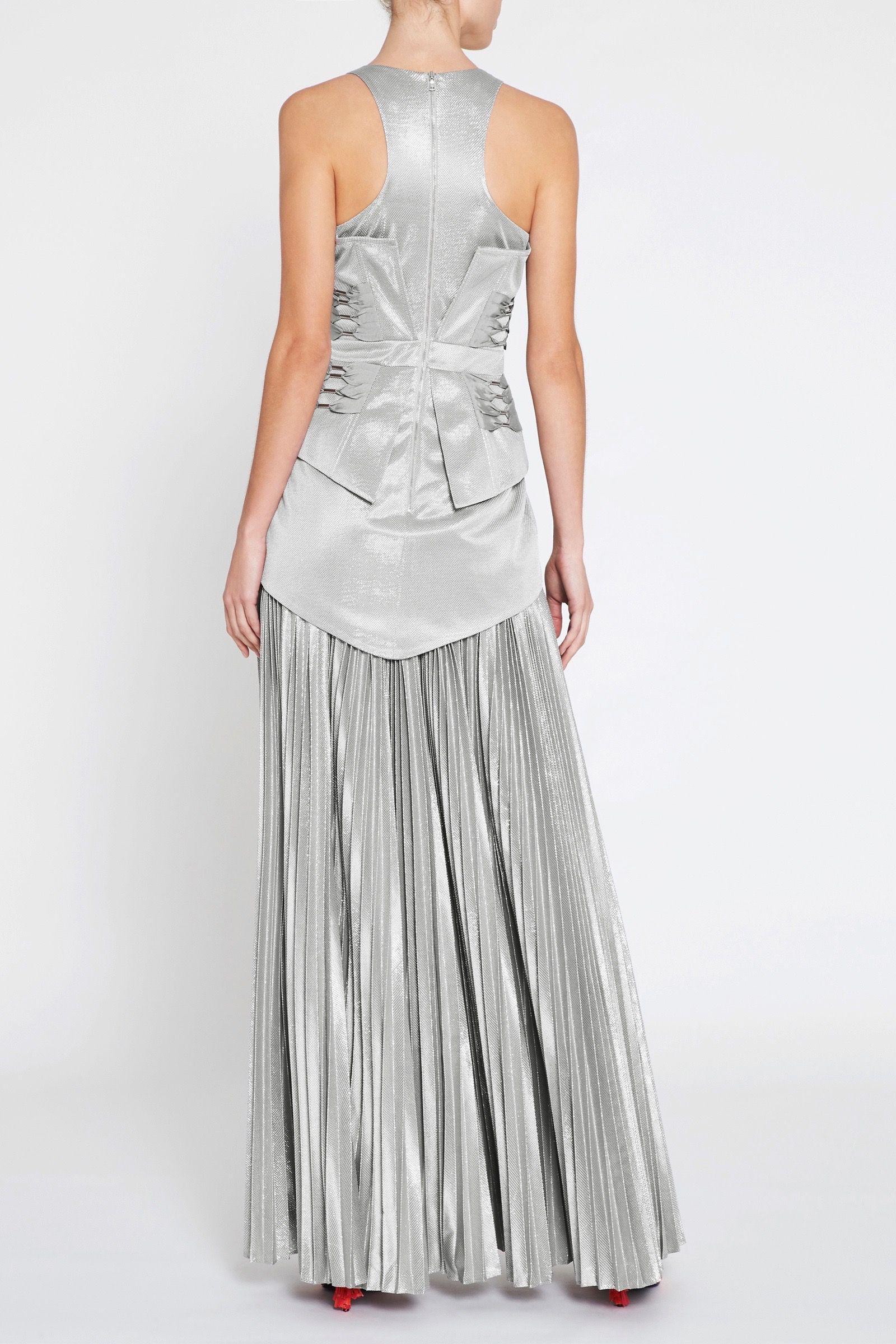 Sass Bide Synthetic The Utopian Dress In Silver Metallic Lyst