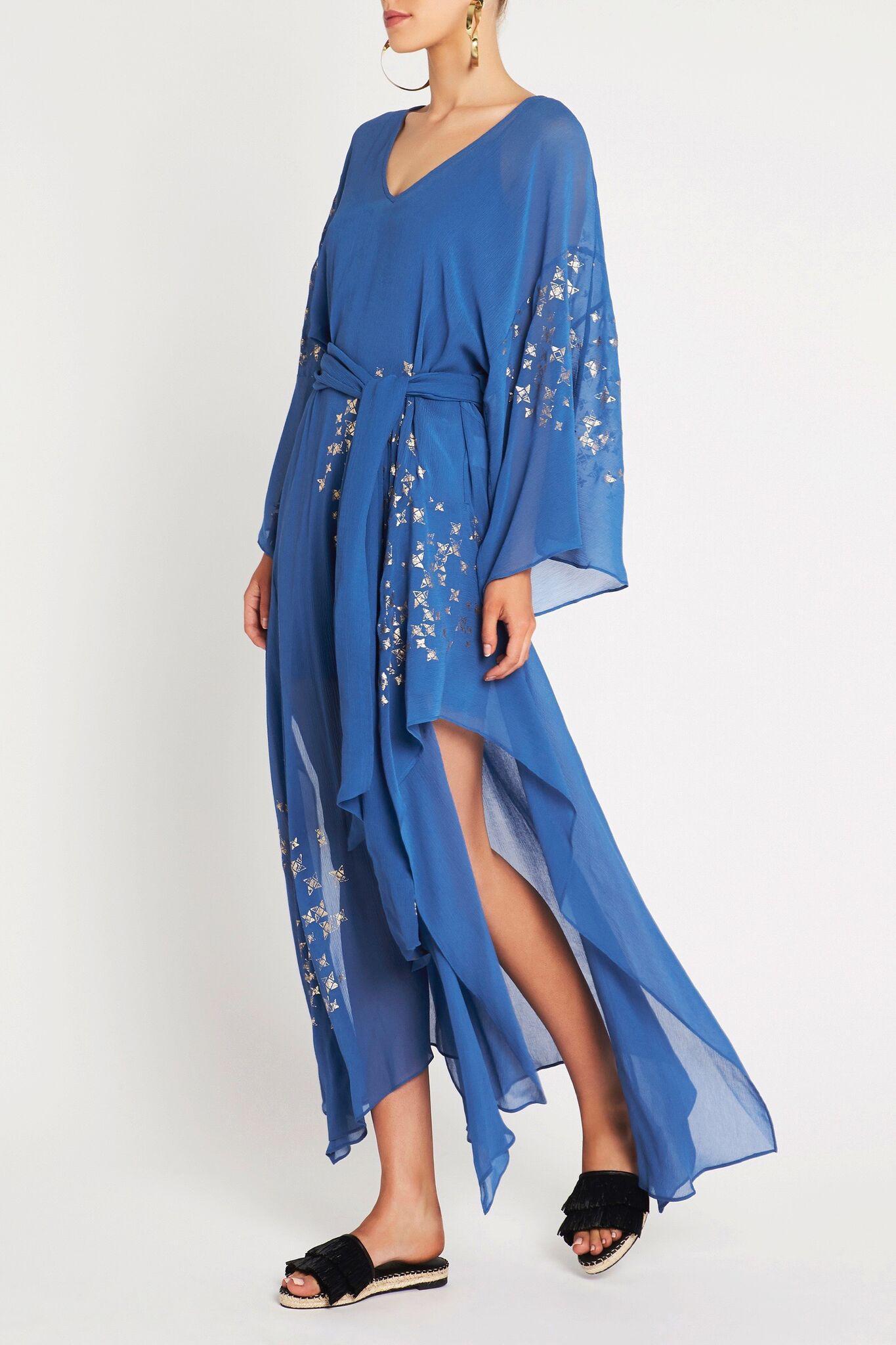 Sass Bide Silk Love Star Dress In Print Blue Lyst
