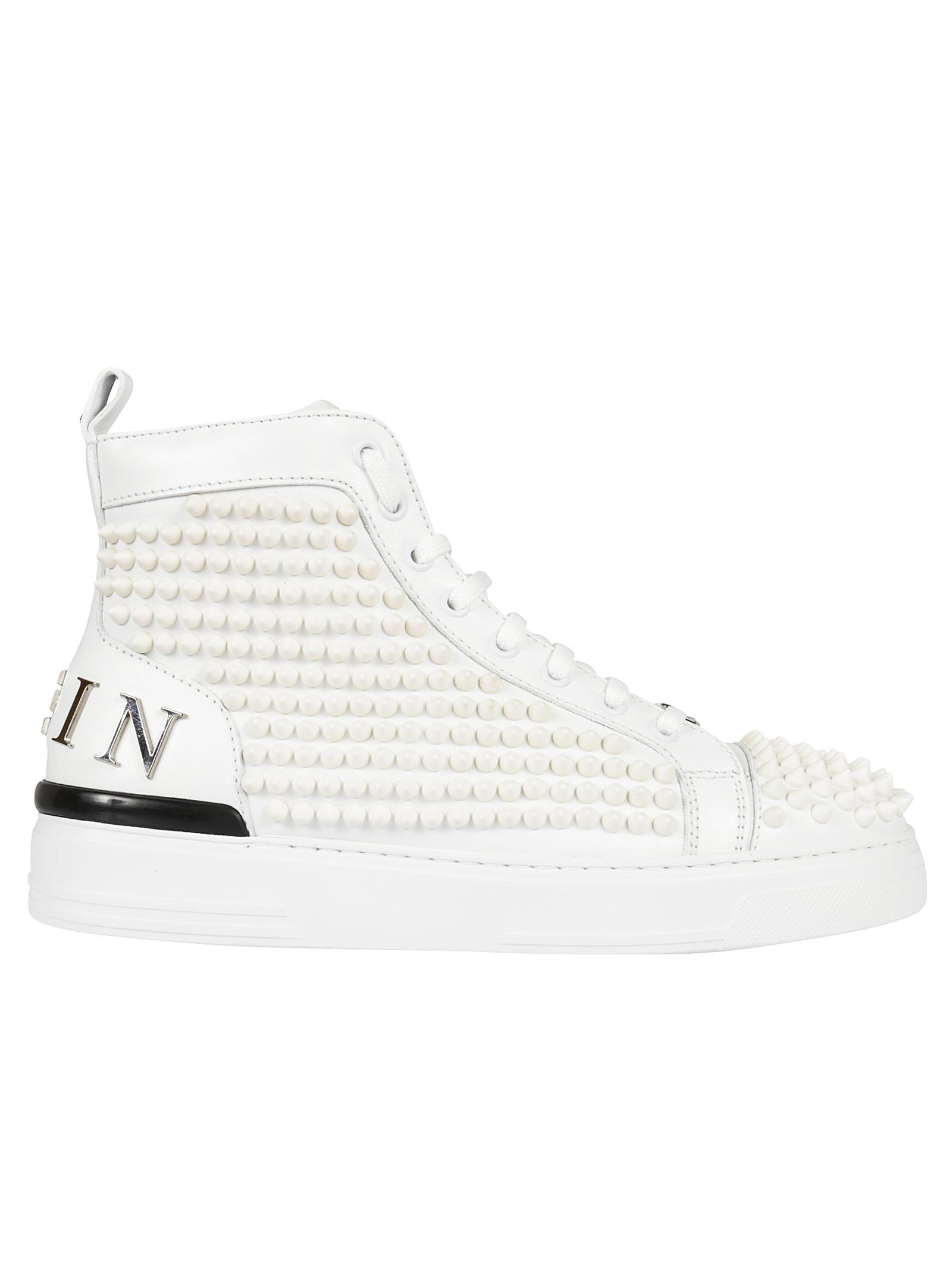 Point Of Question hi-top sneakers - White Philipp Plein nluuuASE