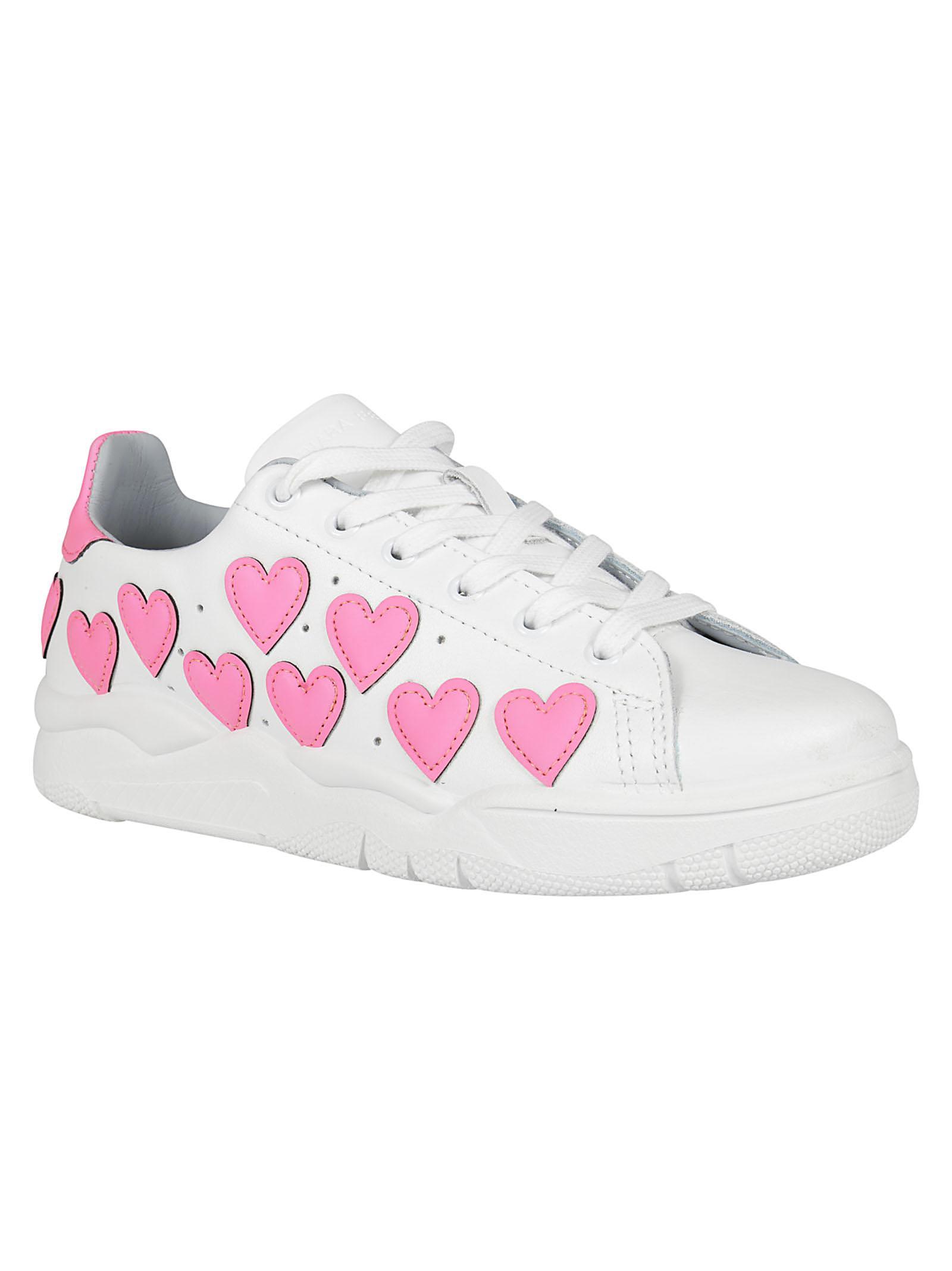 Chiara Ferragni Leather Hearts Sneaker