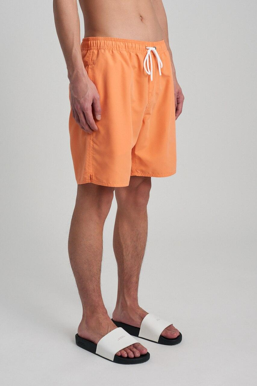 Marble Heart On Peach Mens Board Shorts Swim Mesh Lining and Side Pocket