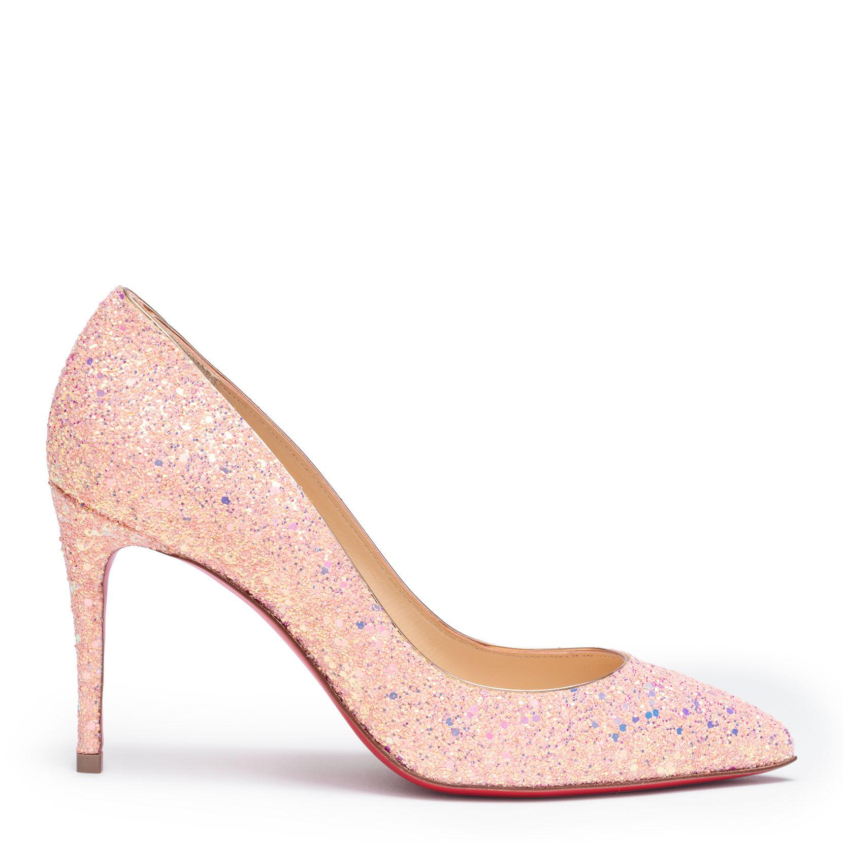 premium selection 667b5 65b57 Women's Pigalle Follies 85 Pink Glitter Pumps