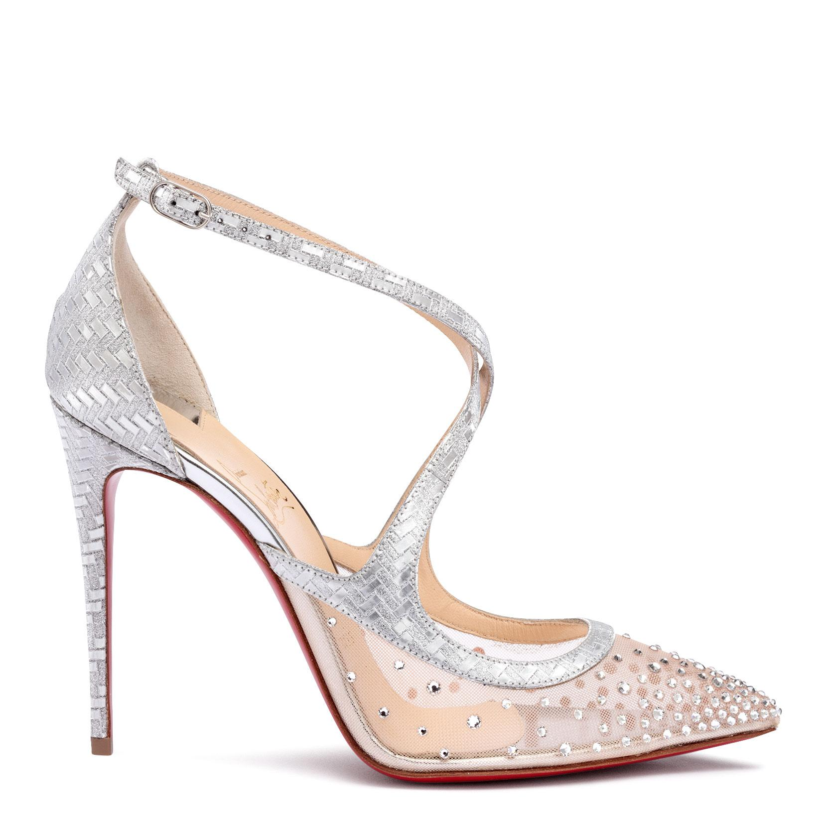 05b6666369a Lyst - Christian Louboutin Twistissima Strass 100 Pumps