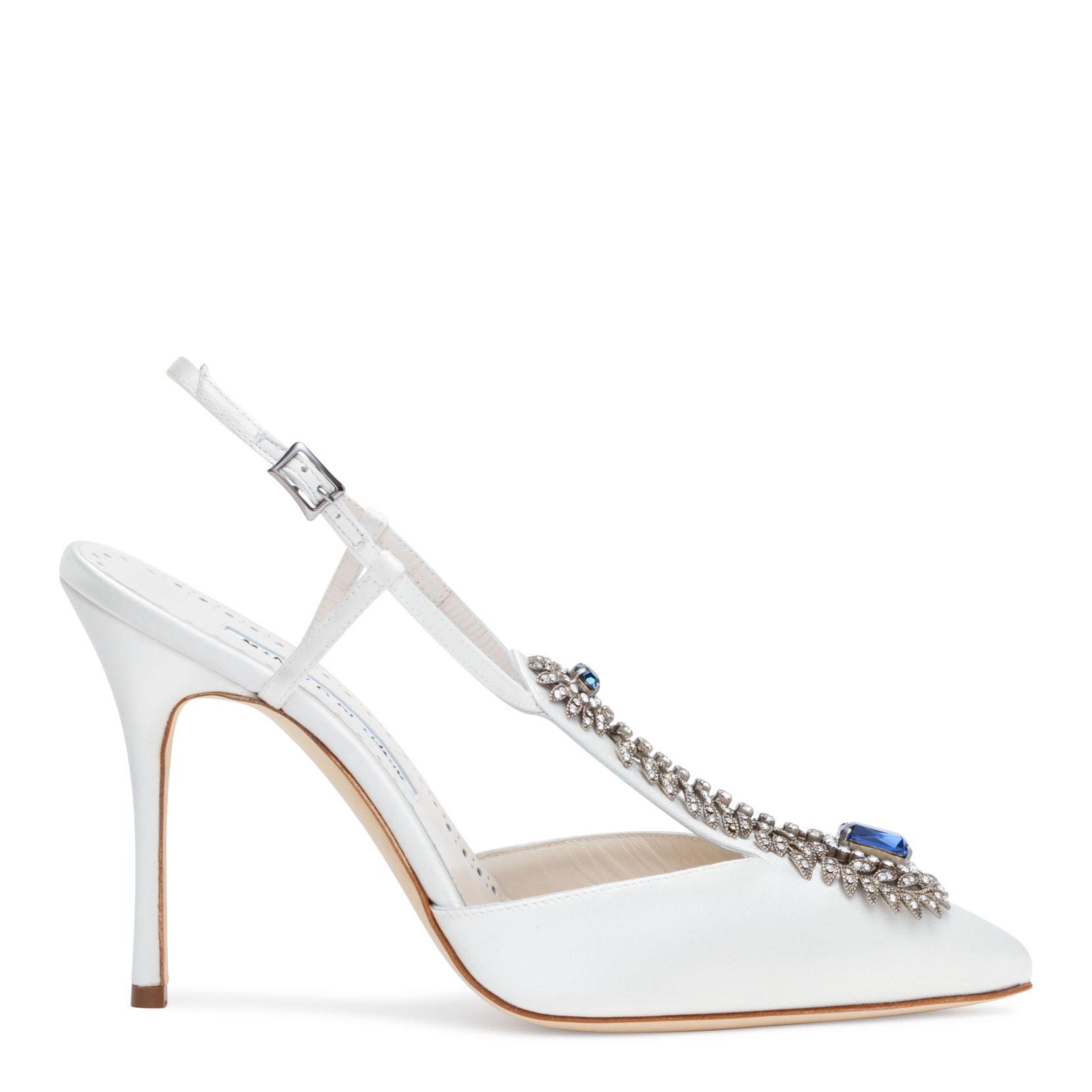 Jamala 105 Ivory Satin Pumps Manolo Blahnik Free Shipping Outlet Limited Edition For Sale Cheap Sale Classic Free Shipping Cheapest Price 7KdfpzH1T