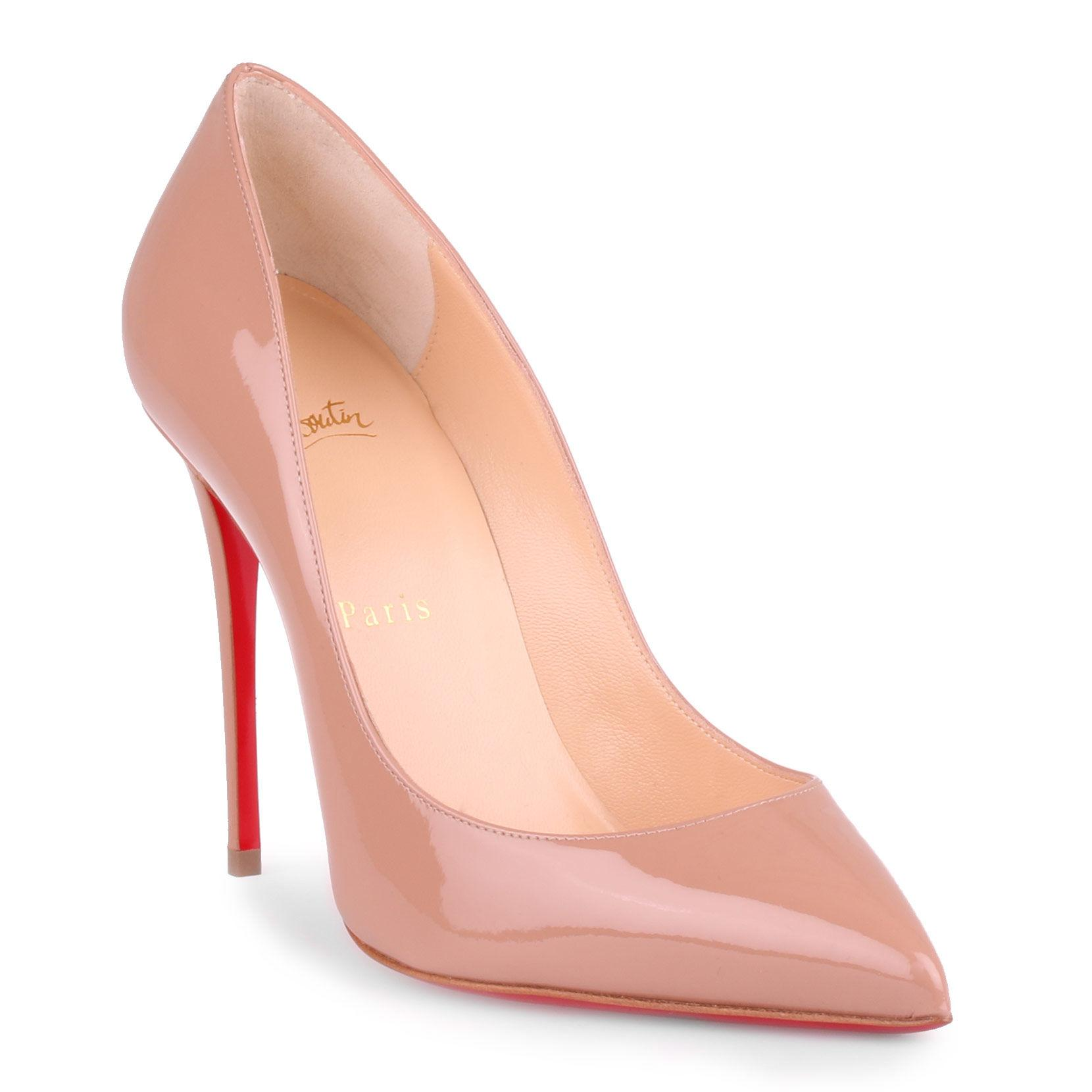 324aaf3b468 Christian Louboutin. Women s Pigalle Follies 100 Beige Patent Leather Pumps