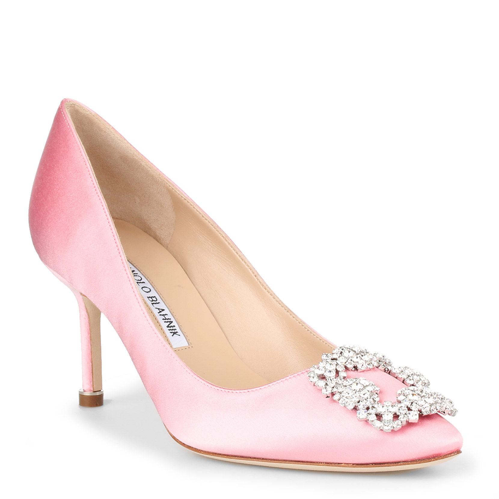 327e86afaa42 Lyst - Manolo Blahnik Hangisi 70 Satin Pump Light Pink in Pink - Save 3%