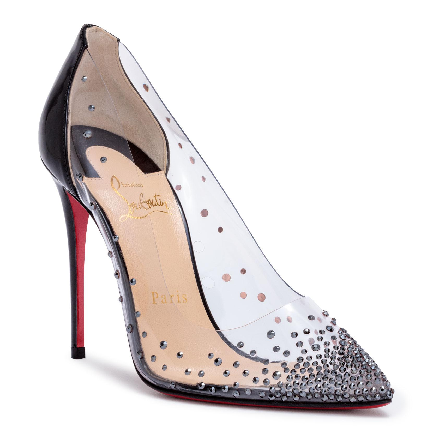 Degrastrass 100 silver patent pumps Christian Louboutin
