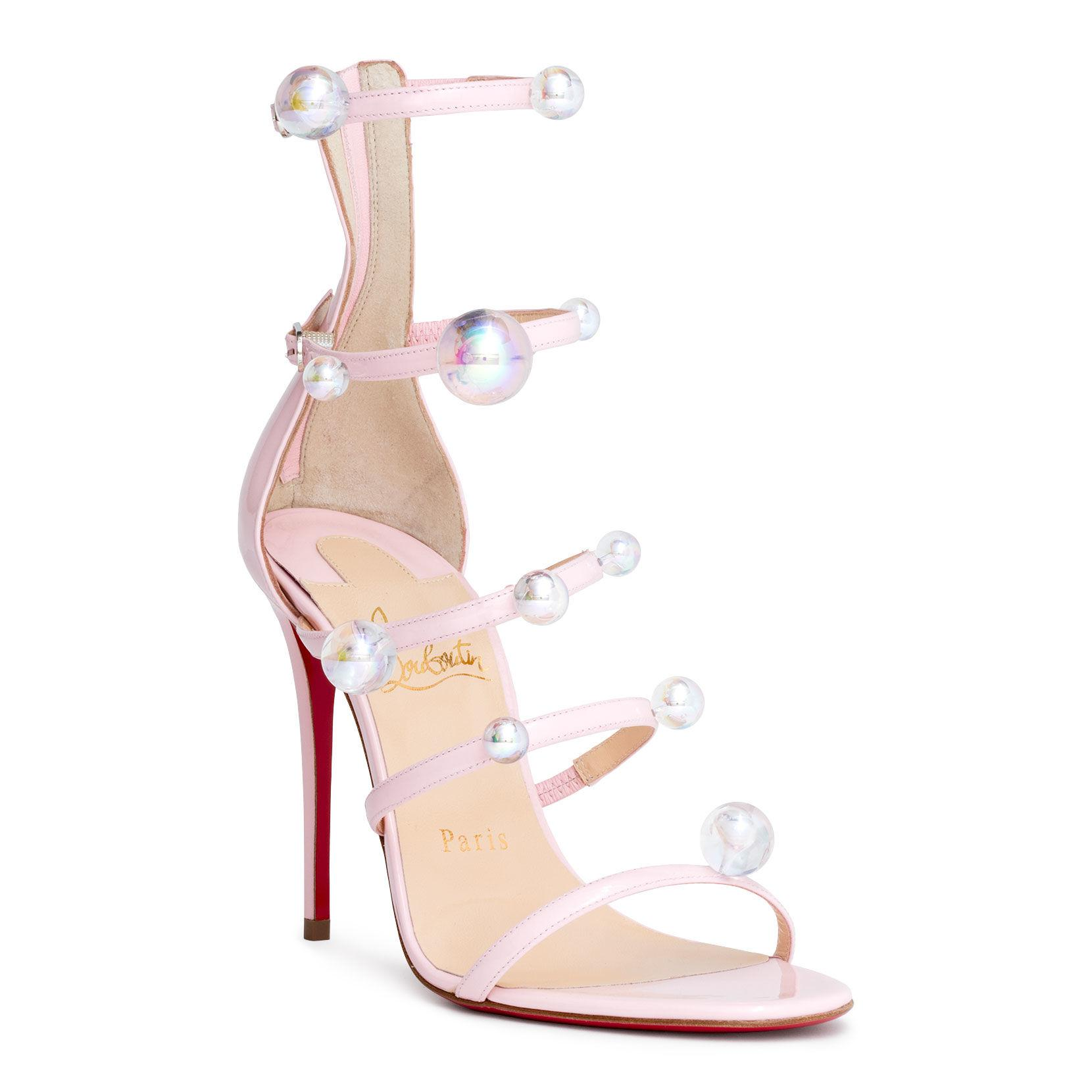 e93398dc8dc Christian Louboutin Pink Atonana 100 Patent Leather Sandals