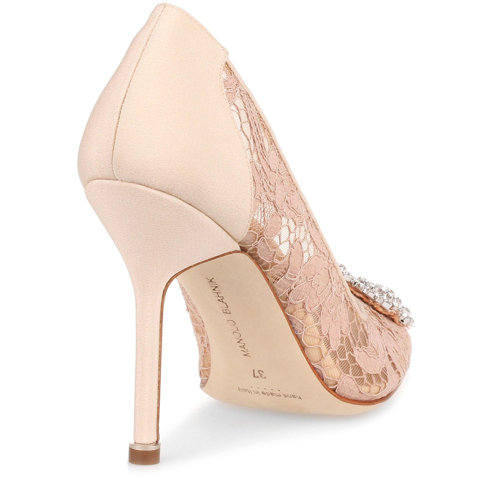 Hangisi 105 beige lace pump Manolo Blahnik For Nice For Sale Best Seller With Paypal Cheap Online Cheap Sale Pick A Best Clearance Geniue Stockist 3GaFv5mNmp