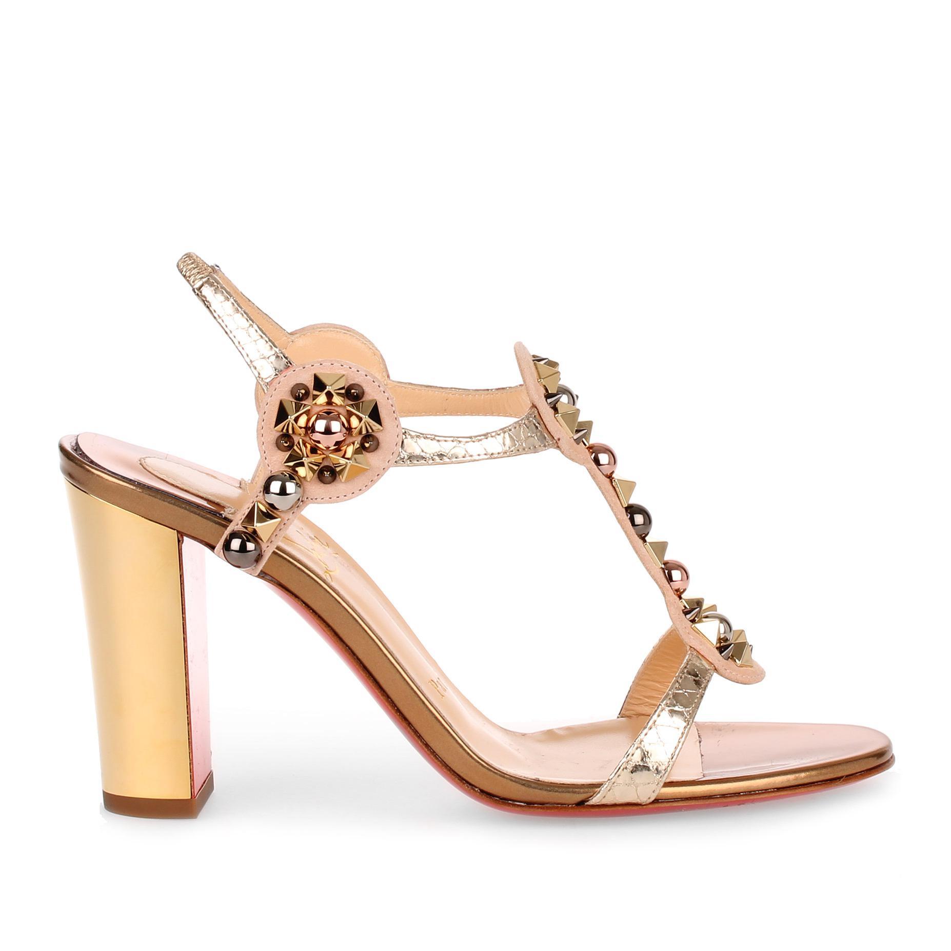 Kaleitop 85 metallic leather sandal Christian Louboutin In China Cheap Online Exclusive Online 3lma9Hyb
