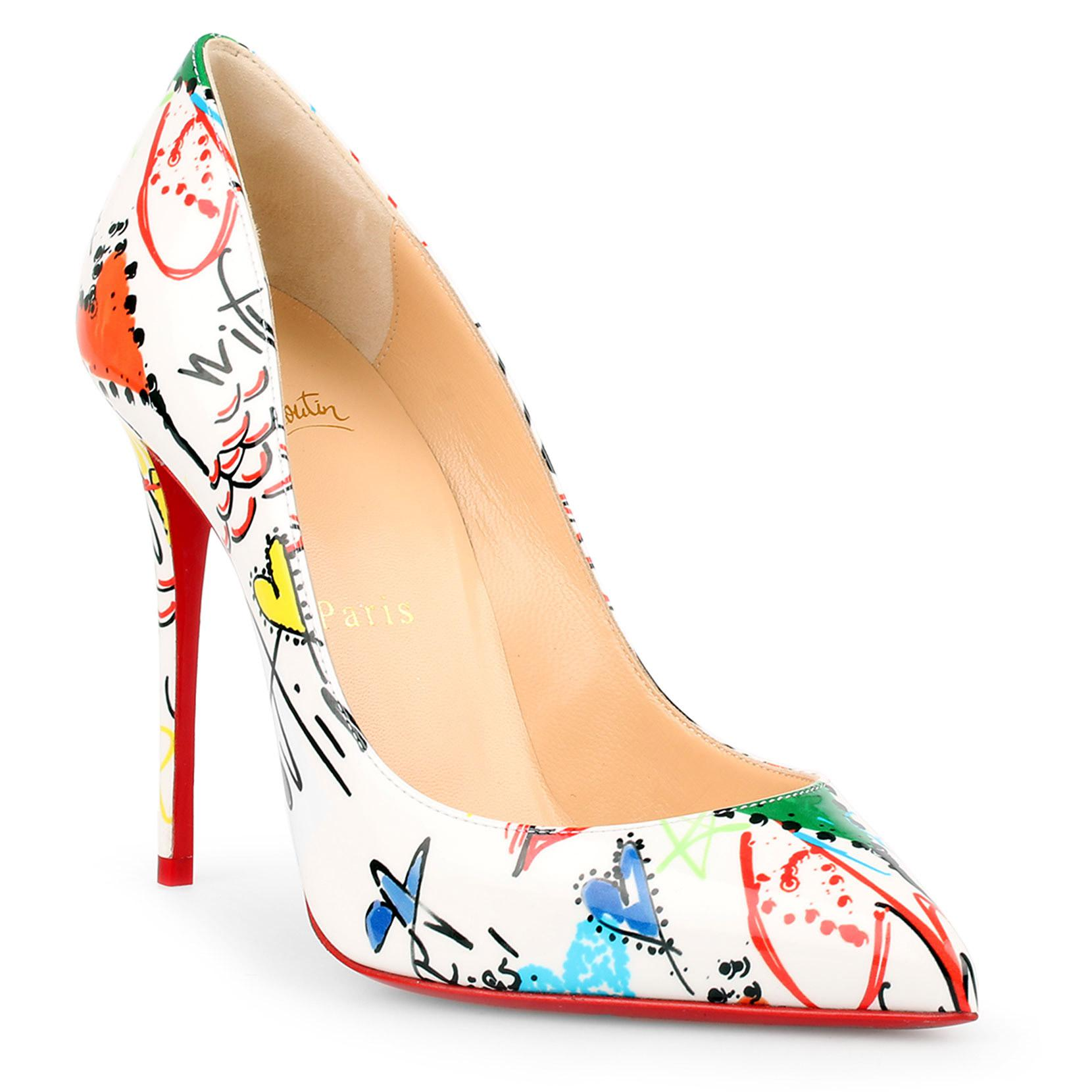 new arrival 24183 d87bf Christian Louboutin Leather Pigalle Follies 100 Patent ...