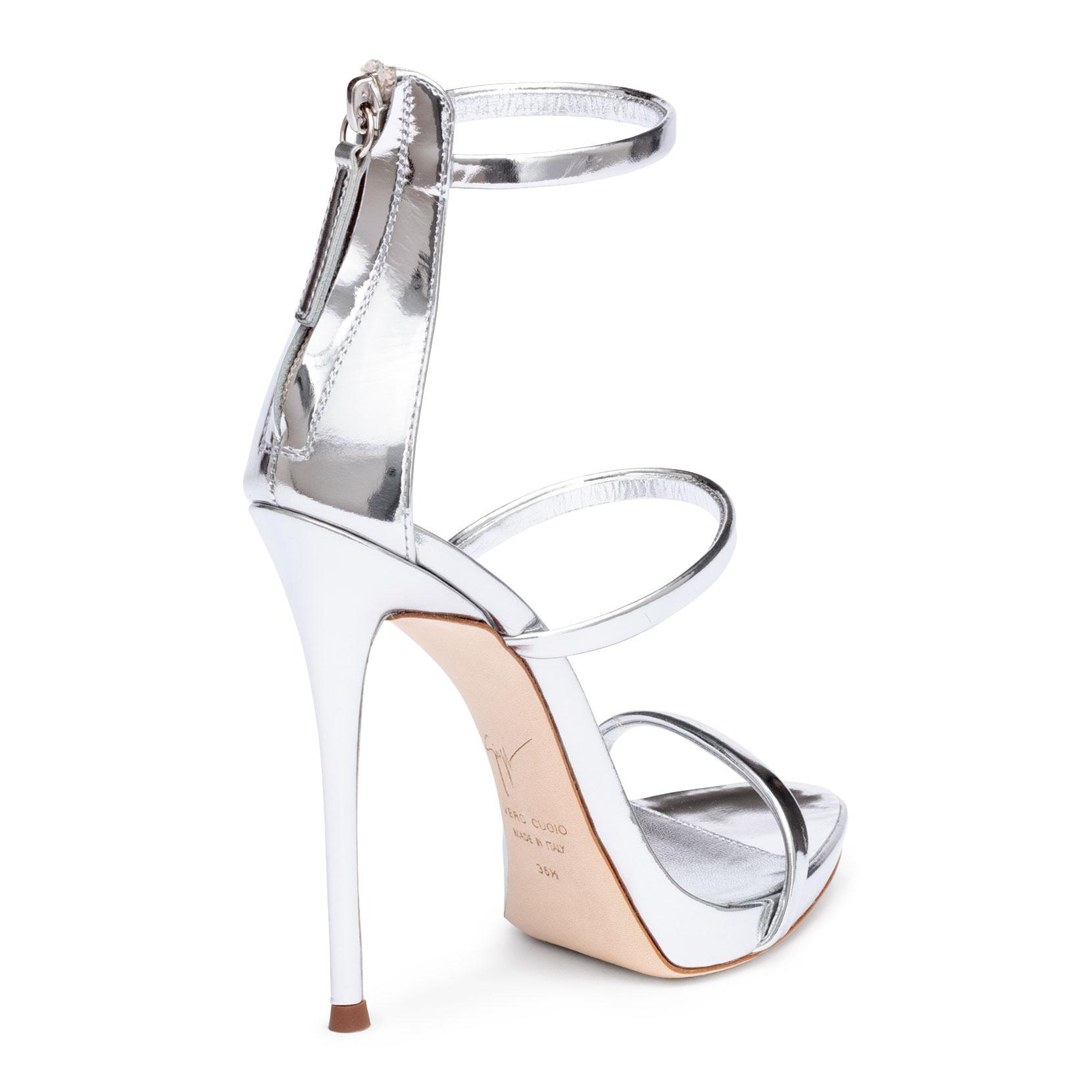 Harmony 120 silver metallic leather sandals Giuseppe Zanotti Discount Reliable Real Free Shipping Pay With Visa Buy Cheap Fashionable Limited Edition Cheap Price IVSx0cTvhm